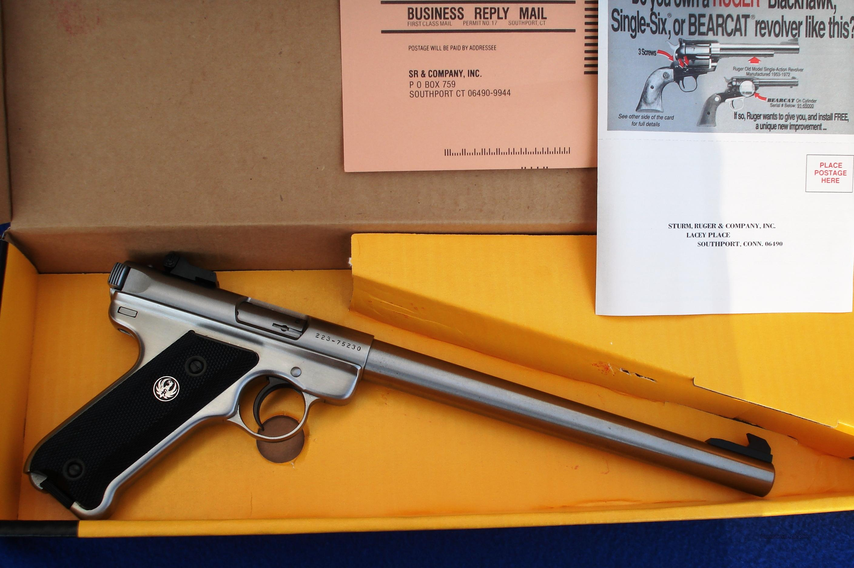 "Stainless Steel Ruger Mark II Target 10"" Inch Barrel 22 Mark 2   Guns > Pistols > Ruger Semi-Auto Pistols > Mark I & II Family"