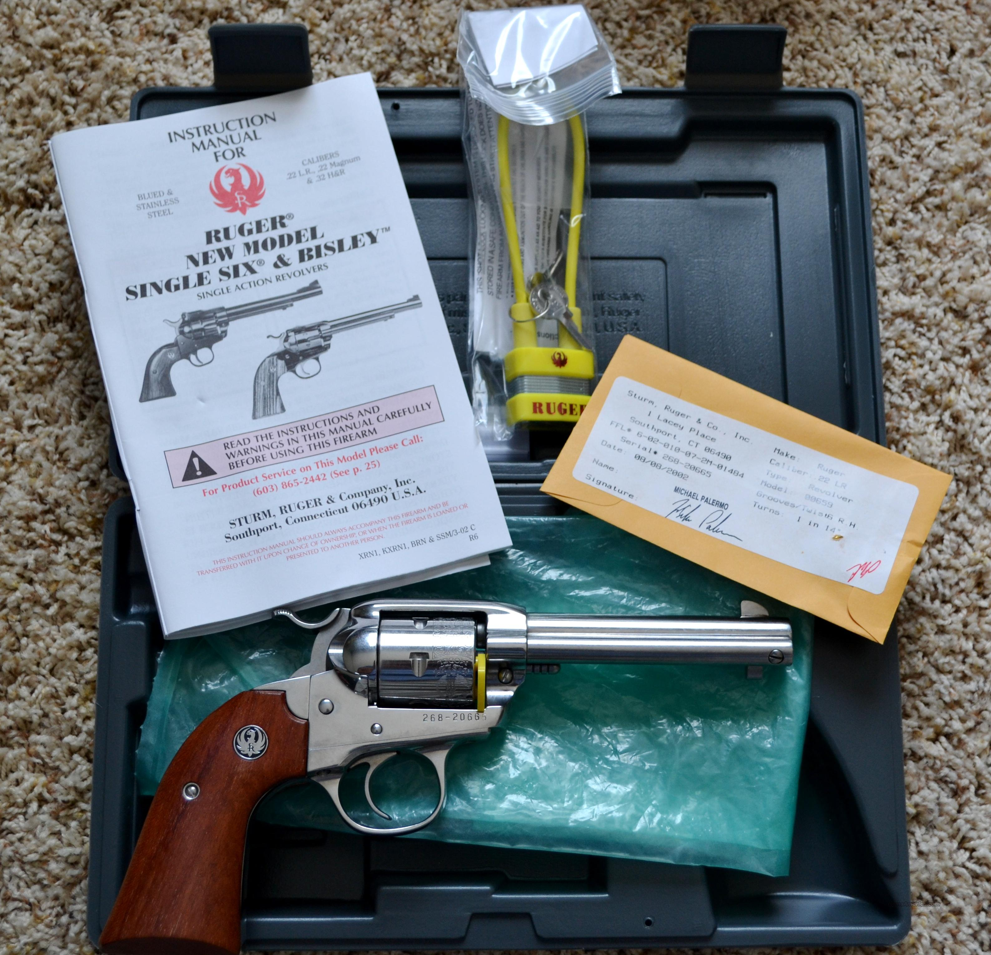 Ruger SS Bisley Single Six .22 Rare  Guns > Pistols > Ruger Single Action Revolvers > Single Six Type