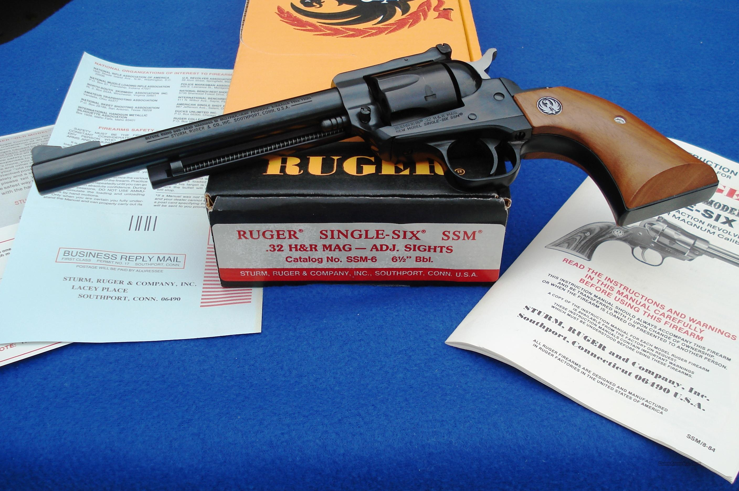 2 digit Ruger Single Six .32 H&R Mag SSM Stamped   Guns > Pistols > Ruger Single Action Revolvers > Single Six Type