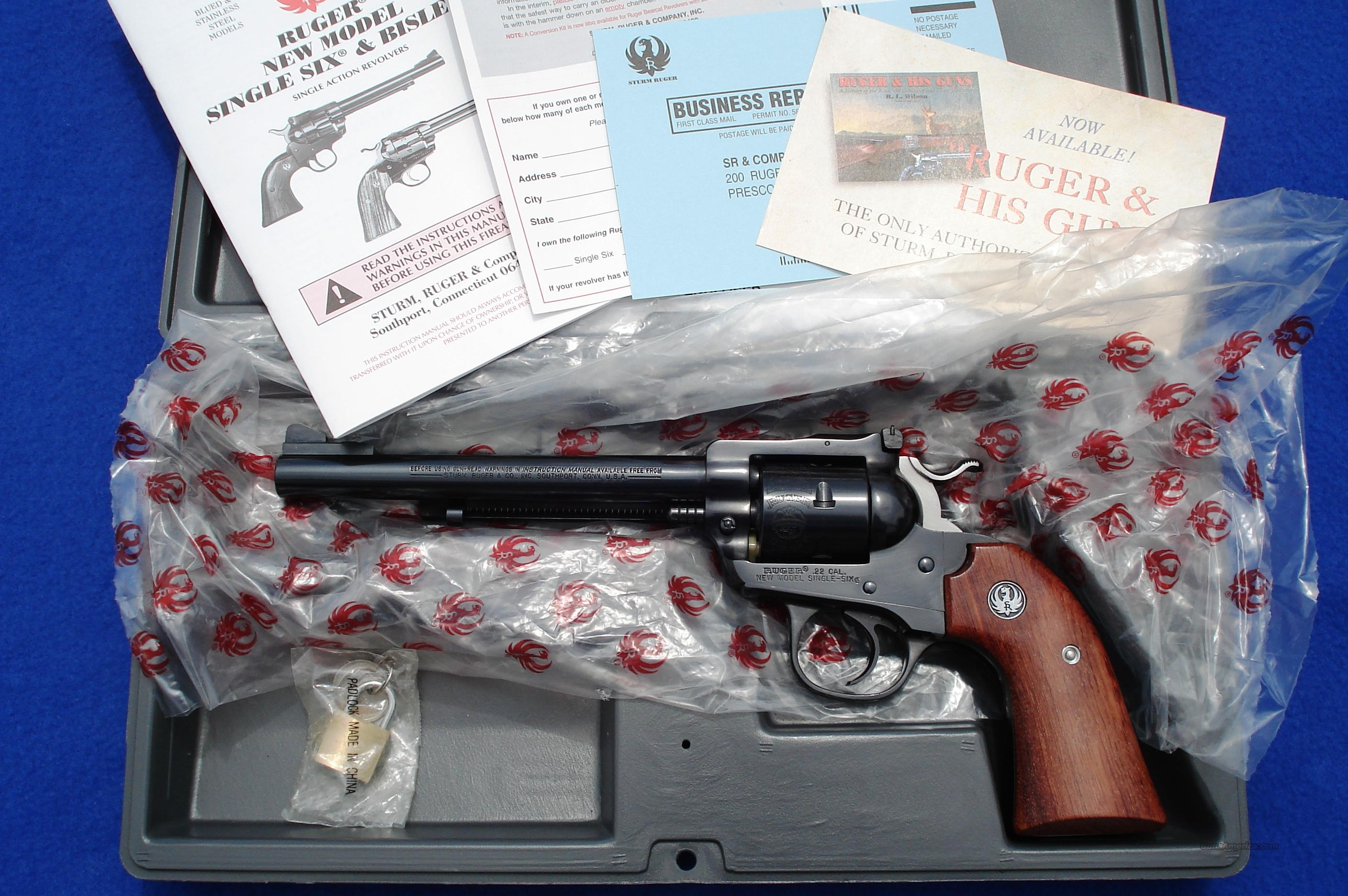 Ruger Bisley Single Six .22 RB-22AW w/ Box, Paperwork  Guns > Pistols > Ruger Single Action Revolvers > Single Six Type