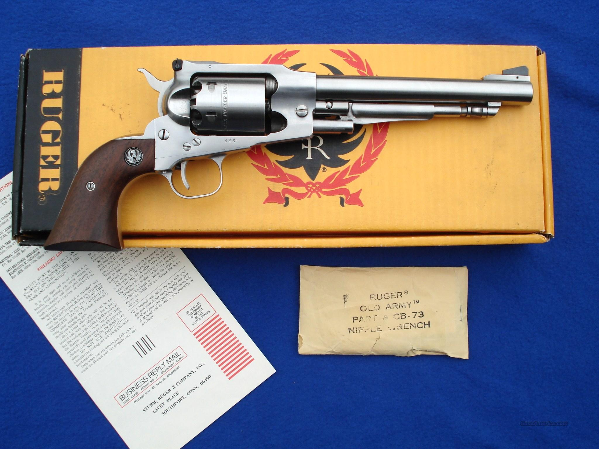 First Year Ruger Old Army SS 3 Digit Serial Number  Guns > Pistols > Ruger Cap & Ball Revolvers