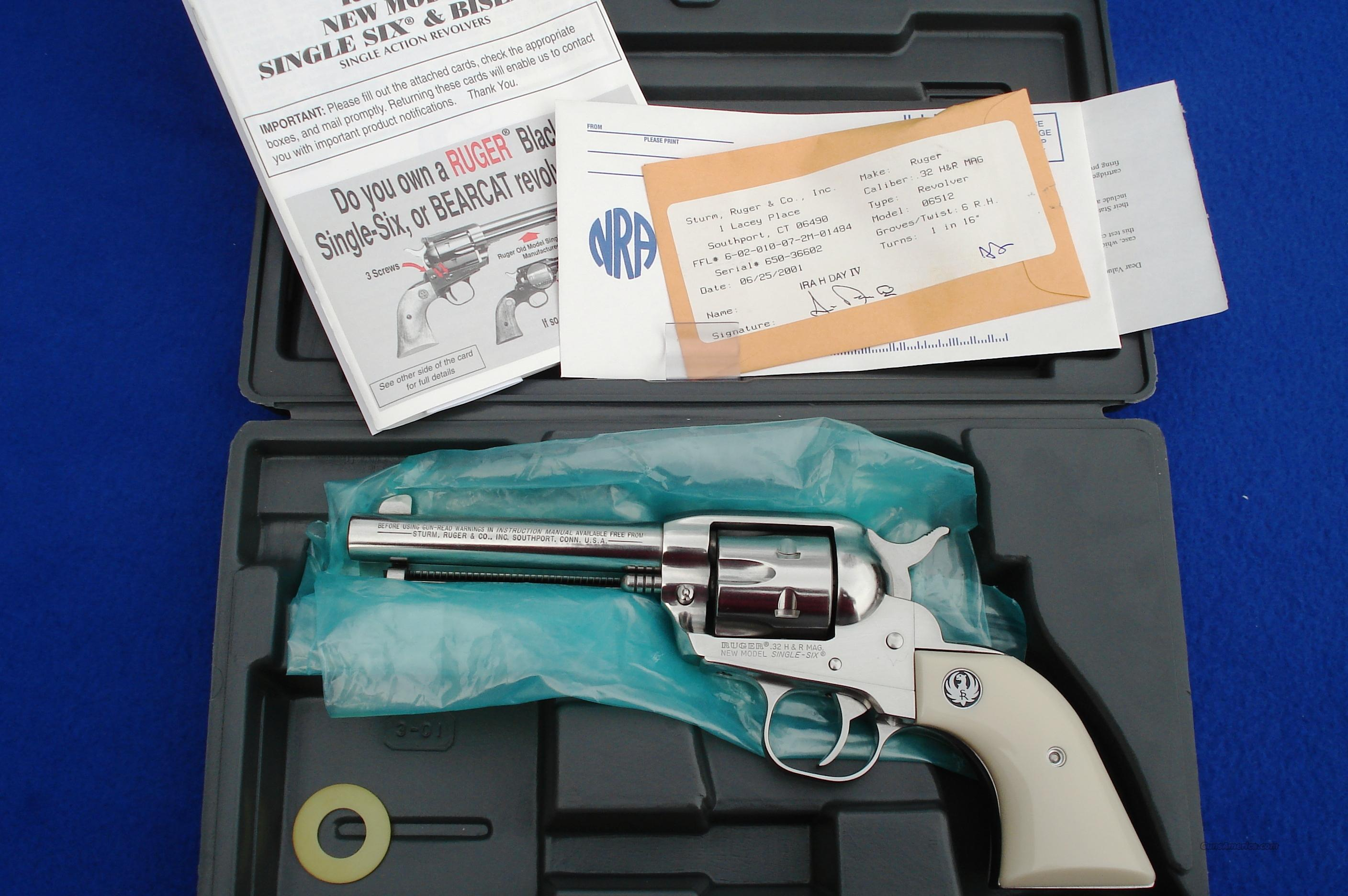 Ruger Single Six .32 Gloss Stainless 32 H&R Mag   Guns > Pistols > Ruger Single Action Revolvers > Single Six Type