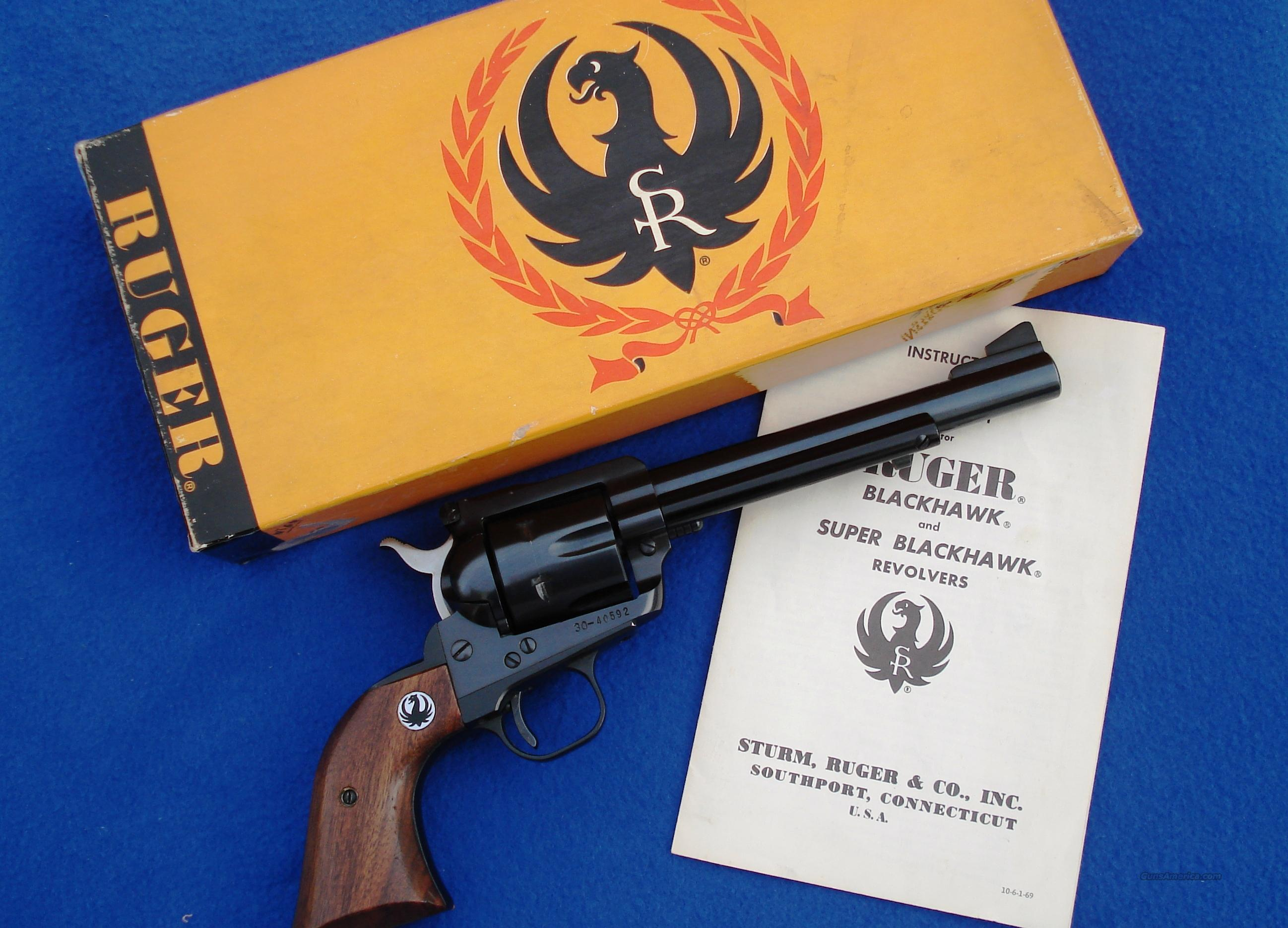 Ruger Blackhawk 3 Screw .357 Old Model, w/Box and Manual  Guns > Pistols > Ruger Single Action Revolvers > Blackhawk Type