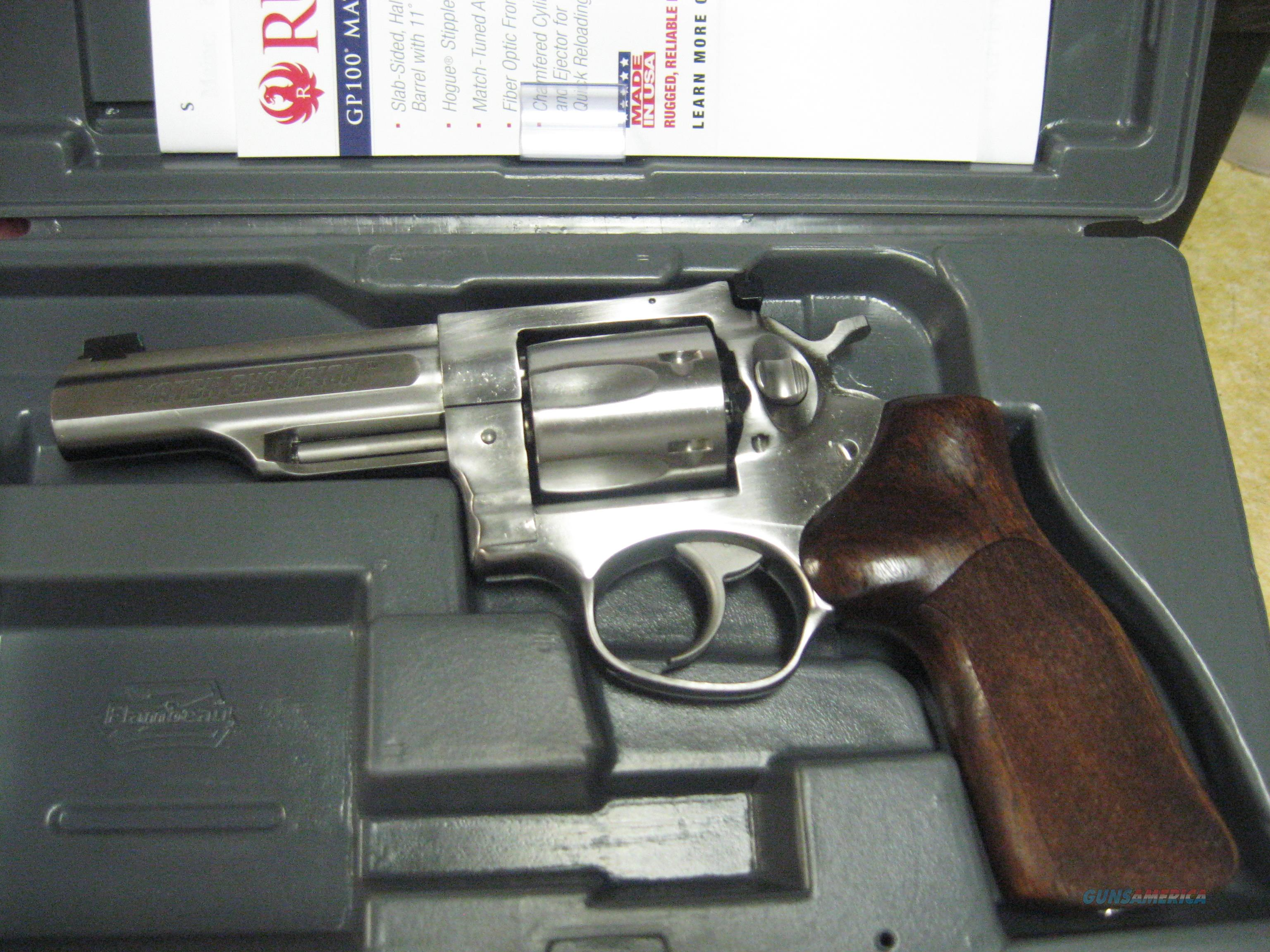 Ruger GP100 Match Champion 4.2 inch bbl. 357mag  Guns > Pistols > Ruger Double Action Revolver > GP100