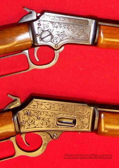 Marlin Model 1894 Octagon & 39M Octagon Engraved Set  Guns > Rifles > Marlin Rifles > Modern > Lever Action