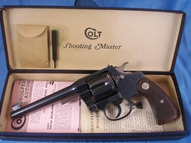 Colt Shooting Master  Guns > Pistols > Colt Double Action Revolvers- Pre-1945