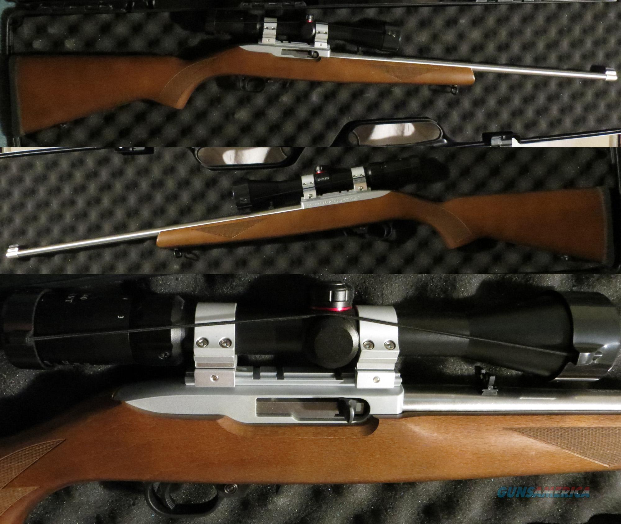Lightly used Ruger 10/22 with scope and FREE AMMO!  Guns > Rifles > Ruger Rifles > 10-22