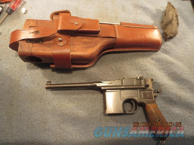 C96 broomhandle Mauser with repo stock and harness  Guns > Pistols > Mauser Pistols