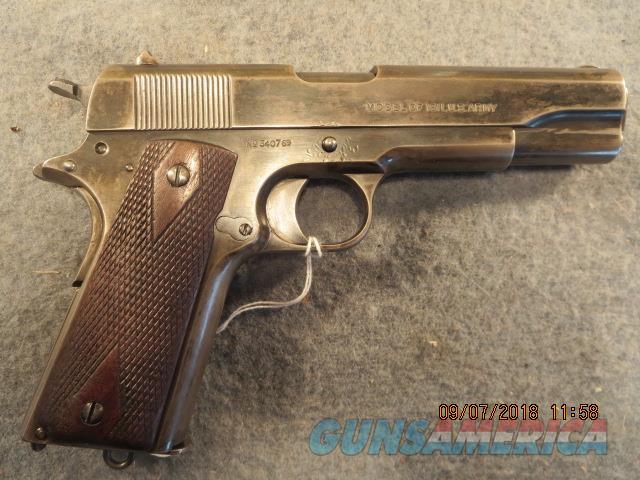 Colt 1911 1918, brush blue finish not blk army  Guns > Pistols > Colt Automatic Pistols (1911 & Var)