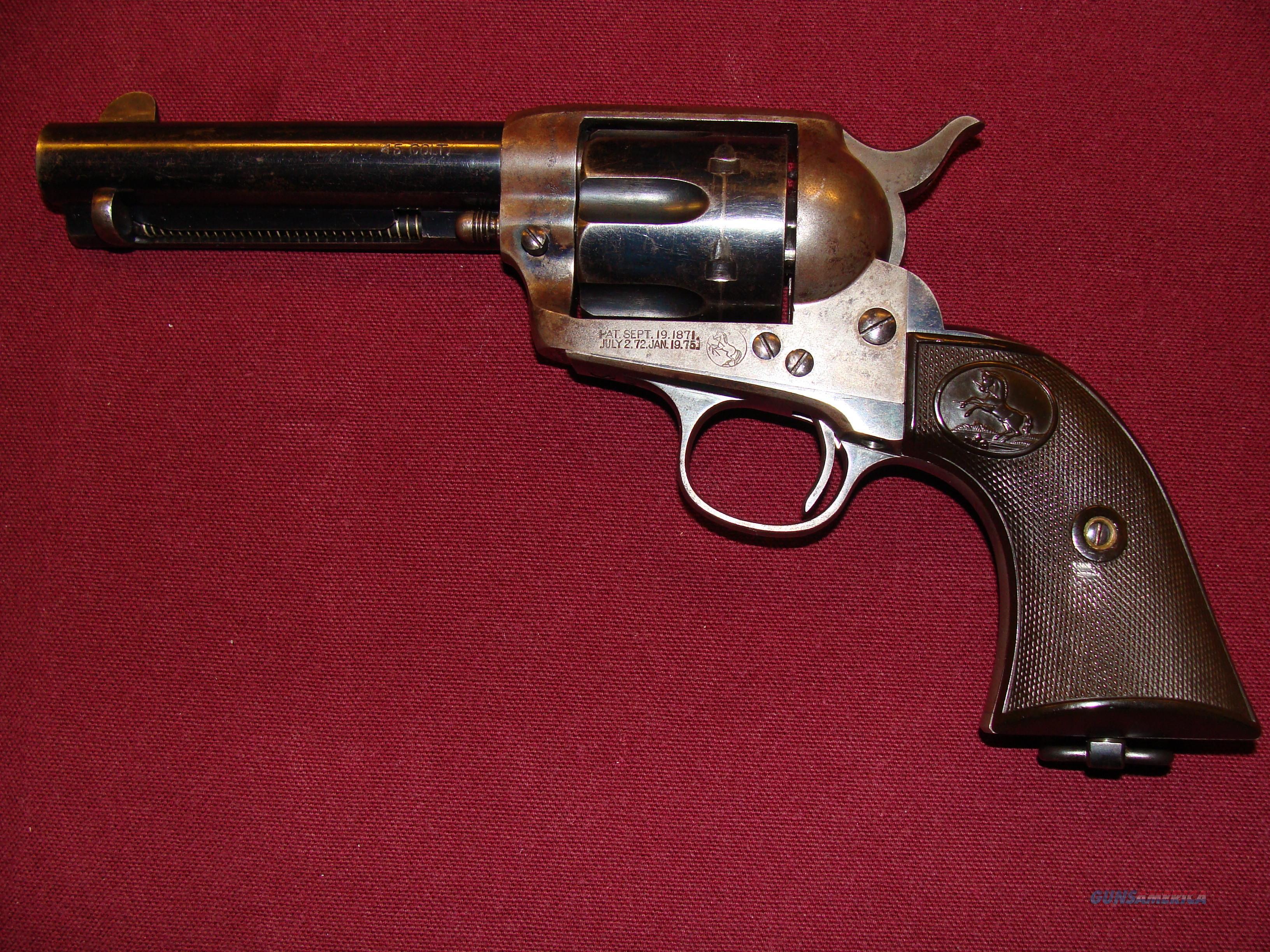 Colt SAA 45, 1902  Guns > Pistols > Colt Single Action Revolvers - 1st Gen.