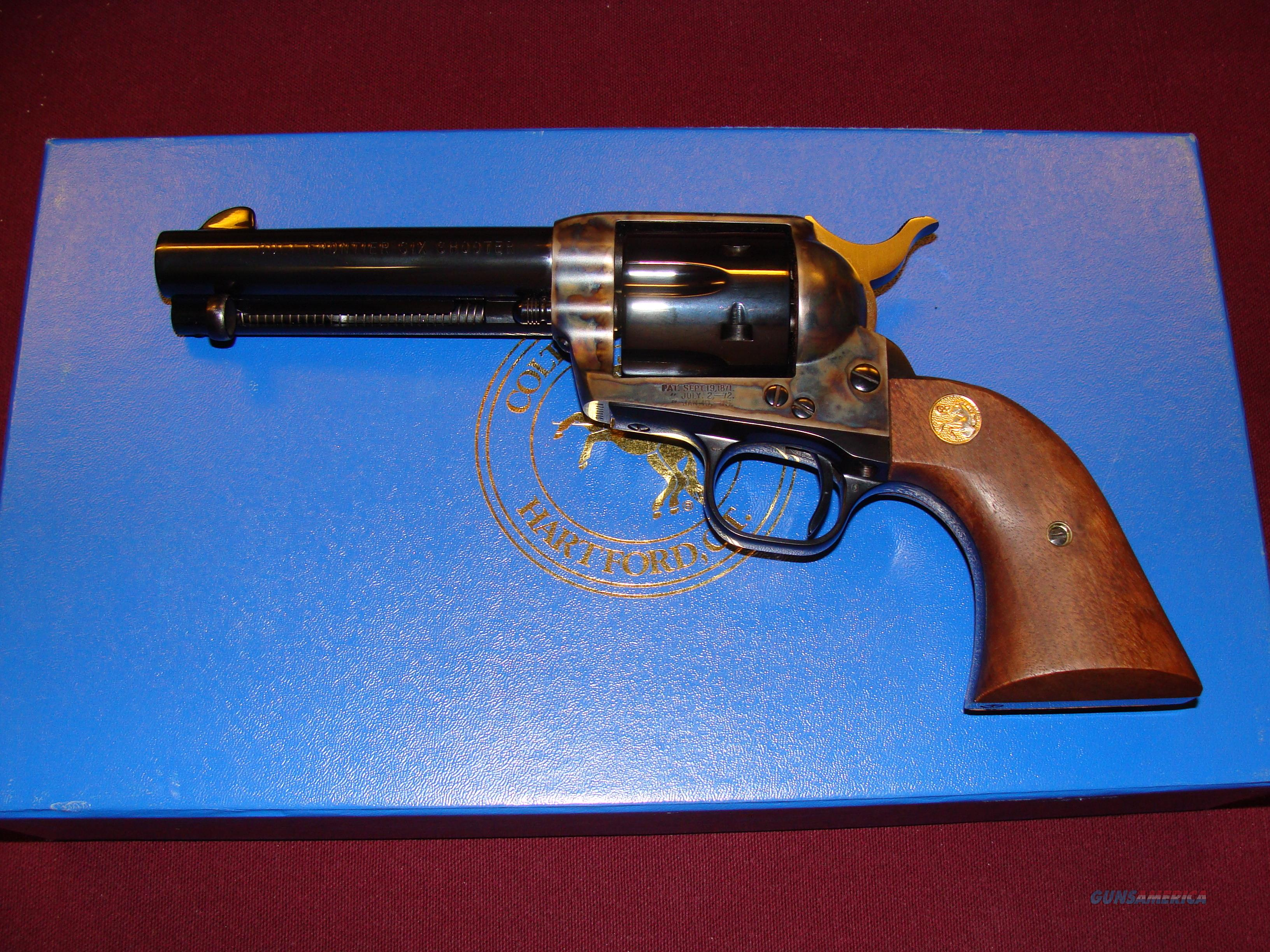 Rolled Panel Frontier Six Shooter  Guns > Pistols > Colt Single Action Revolvers - 3rd Gen.