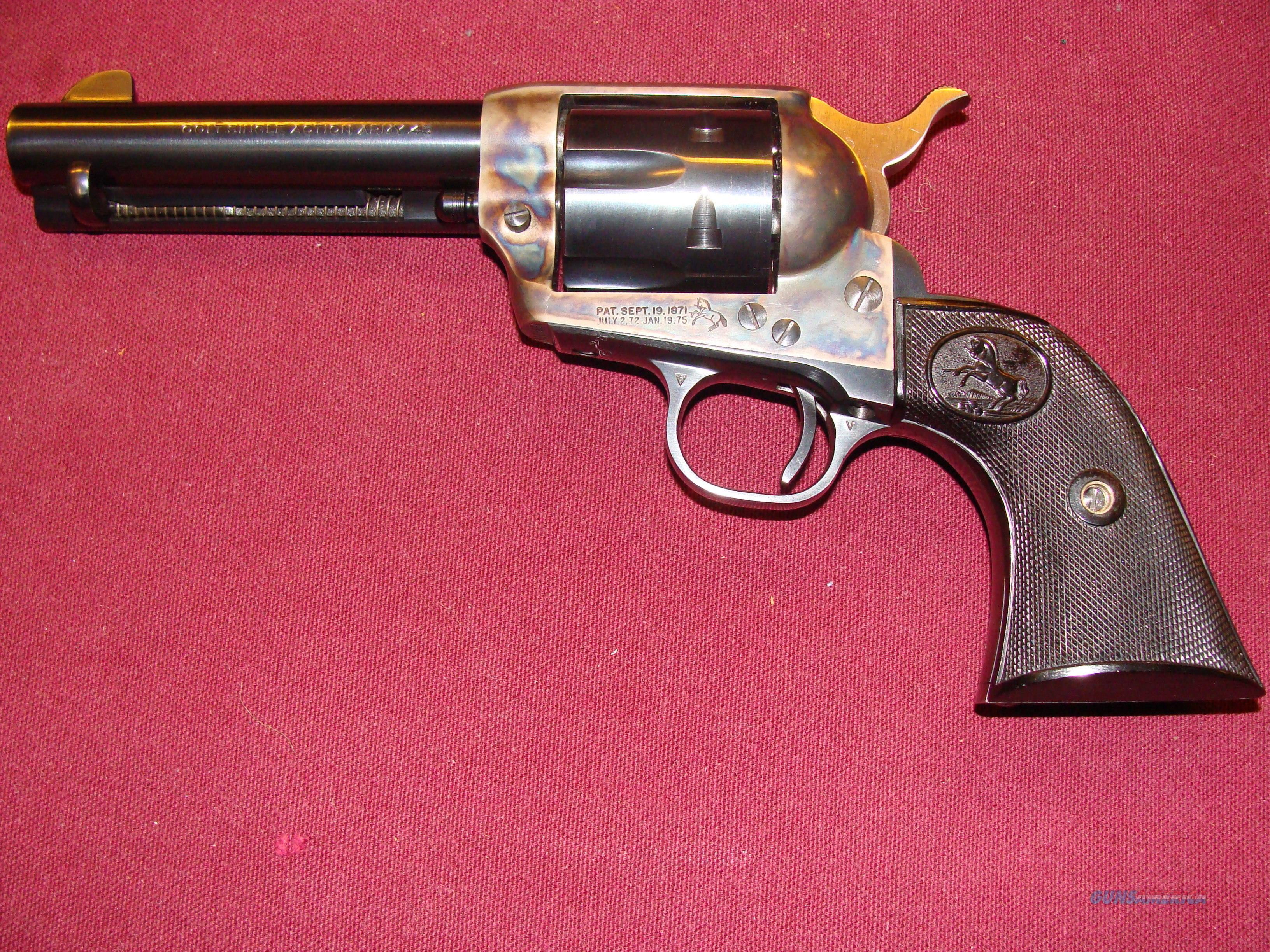 1966 2nd Generation 4 3/4 inch 45  Guns > Pistols > Colt Single Action Revolvers - 2nd Gen.