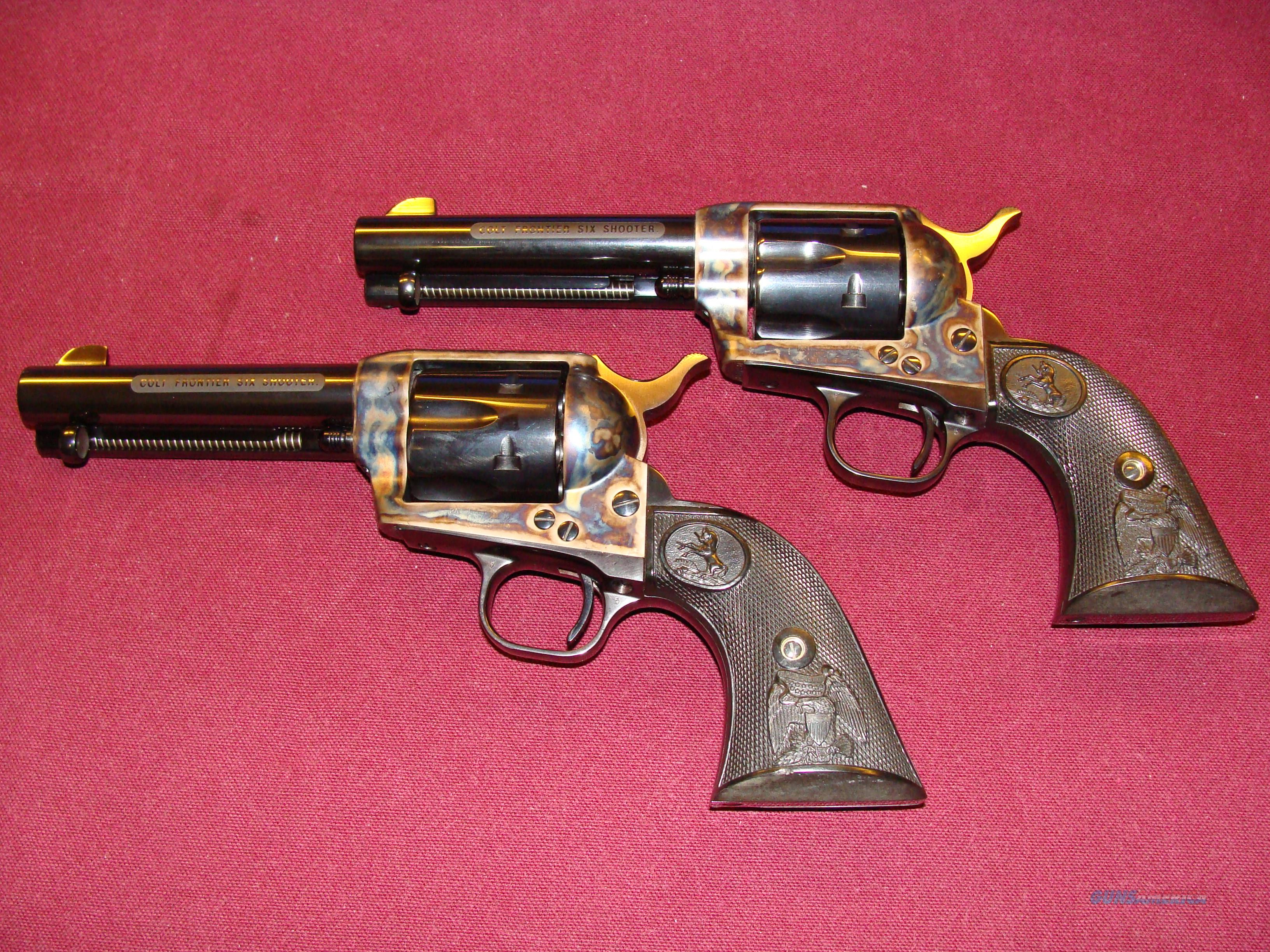Consecutive Pair Frontier Six Shooters  Guns > Pistols > Colt Single Action Revolvers - 3rd Gen.