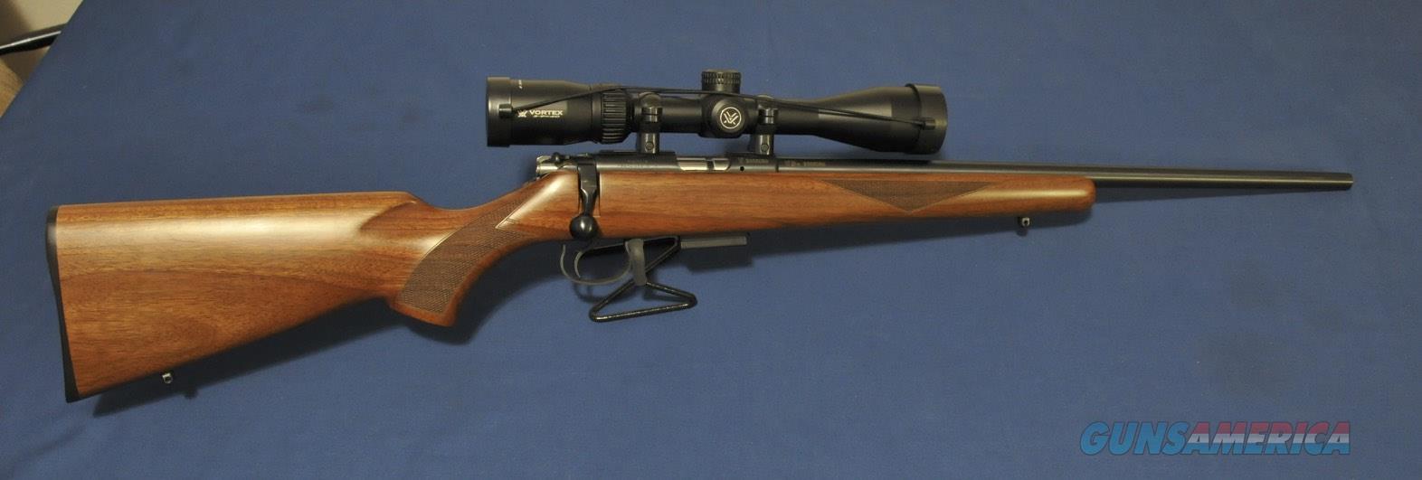 CZ 455 American .17 HMR Blue/Walnut  Guns > Rifles > CZ Rifles