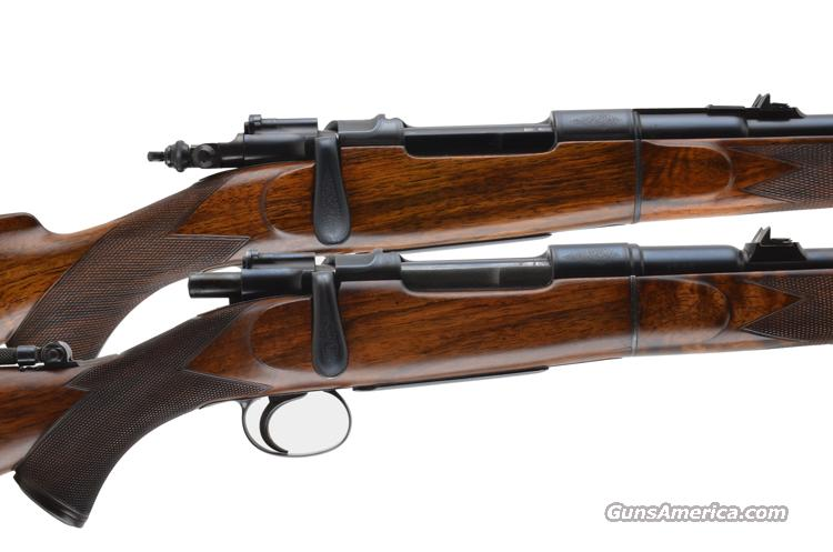 DANL FRASER A PAIR OF PRE WAR TAKEDOWN SPORTING RIFLES 7.65 & 303  Guns > Rifles > Custom Rifles > Bolt Action