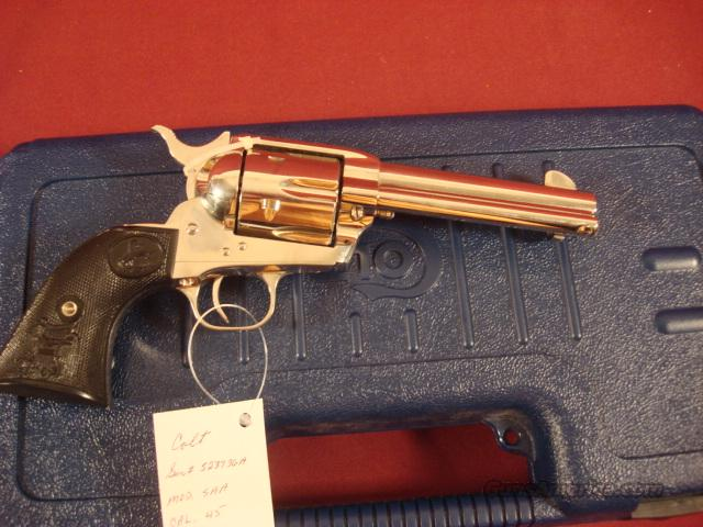 COLT SAA 3RD GENERATION NICKLE 45LC  Guns > Pistols > Colt Single Action Revolvers - 3rd Gen.