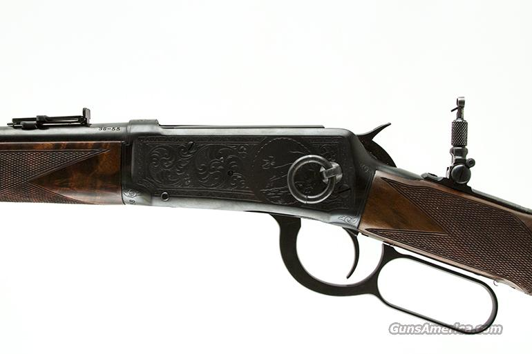 WINCHESTER 1894 DELUXE SADDLE RING CARBINE #9 ENGRAVED 38-55  Guns > Rifles > Winchester Rifles - Modern Lever > Model 94 > Pre-64
