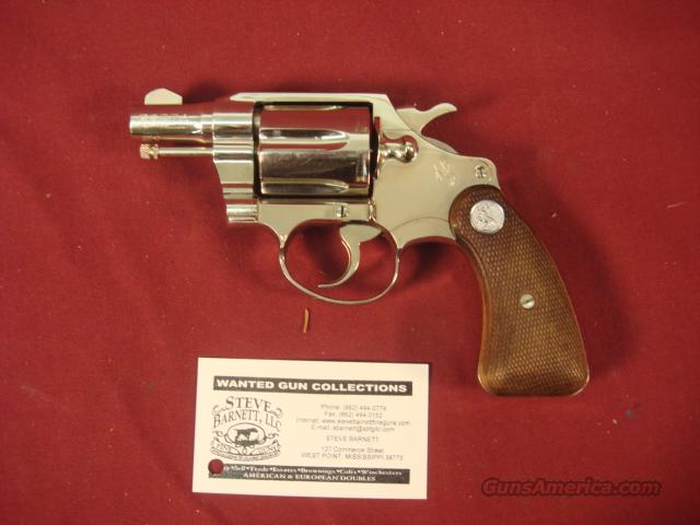 COLT COBRA 1ST  ISSUE NICKEL 38 SPECIAL  Guns > Pistols > Colt Double Action Revolvers- Modern