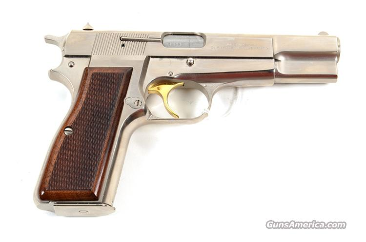 BROWNING HI POWER BELGIUM NICKEL SILVER CHROME 9MM  Guns > Pistols > Browning Pistols > Hi Power