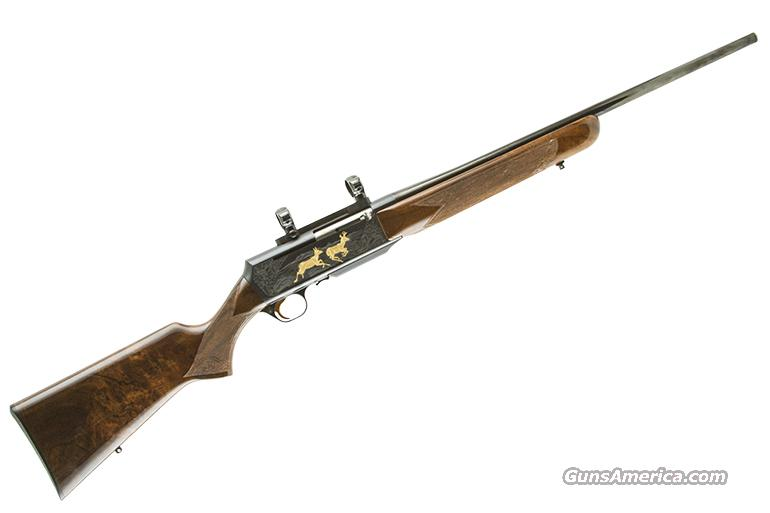 BROWNING BAR GRADE IV  SPECIAL ORDER BLUE W/GOLD  BELGIUM 308  Guns > Rifles > Browning Rifles > Semi Auto > Hunting