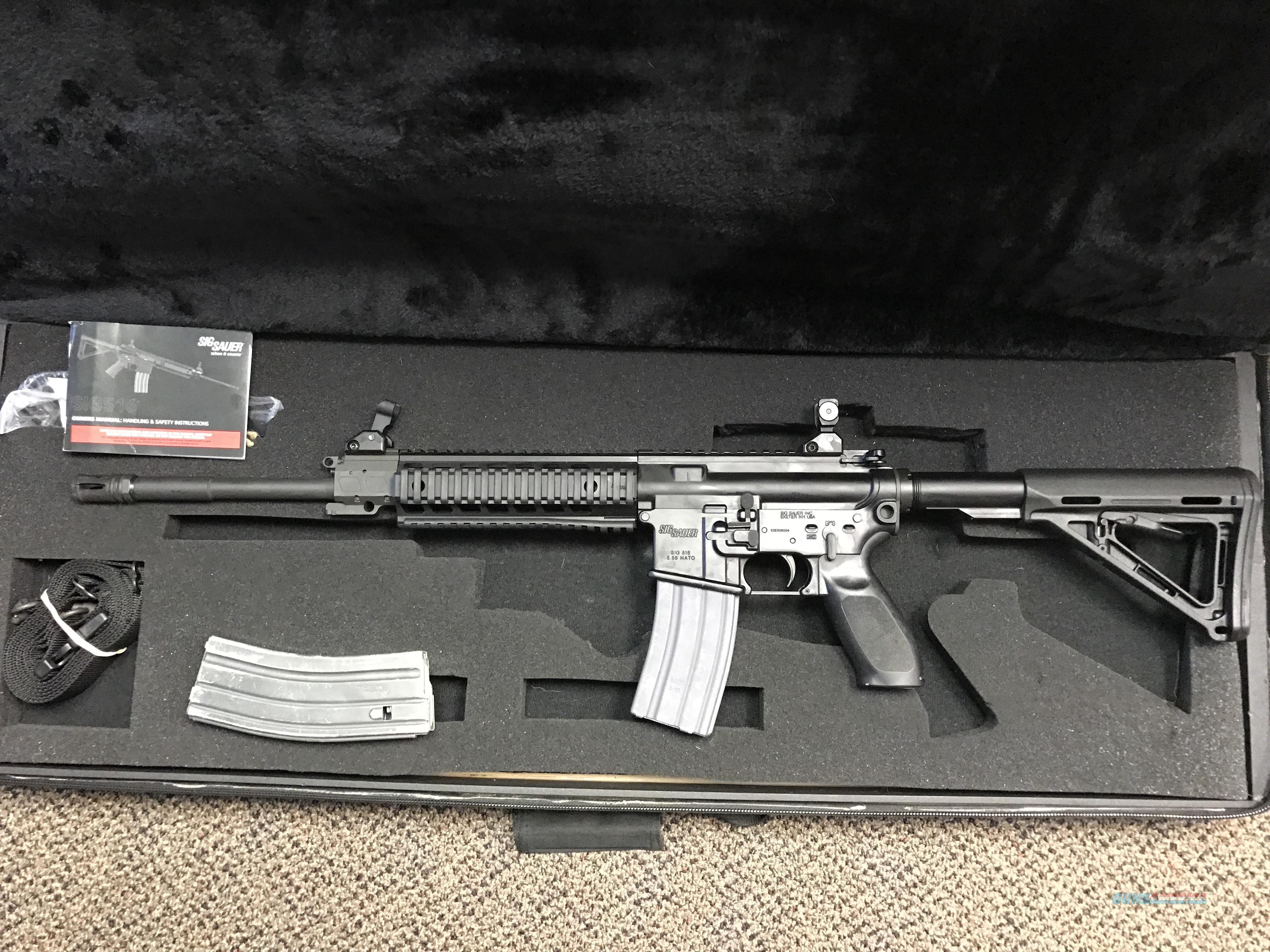 Sig Sauer 516 Patrol 5.56 with case  Guns > Rifles > AR-15 Rifles - Small Manufacturers > Complete Rifle