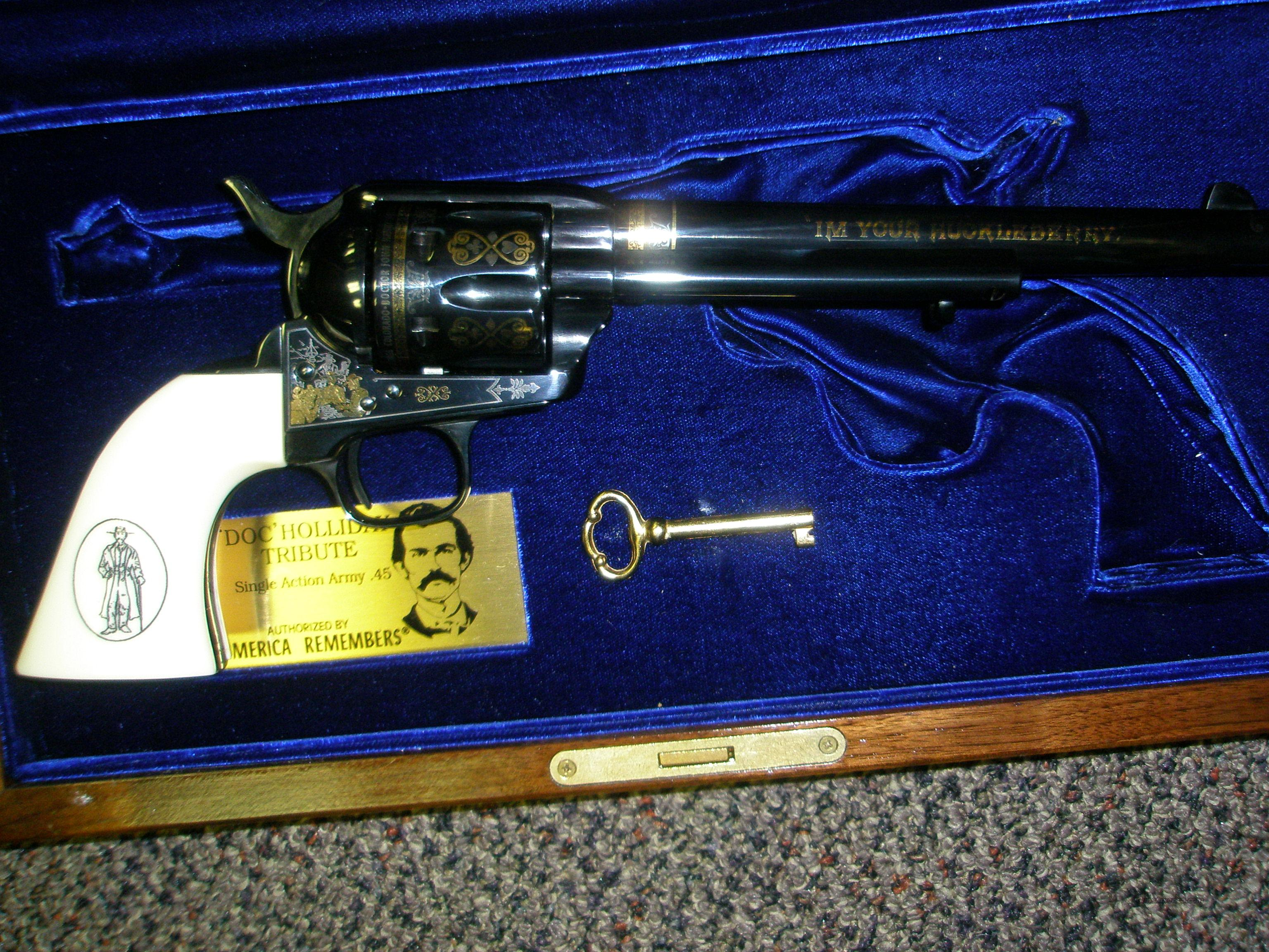 Uberti Doc Holliday Tribure single action w/display case in 45 LC  Guns > Pistols > Uberti Pistols > Ctg.