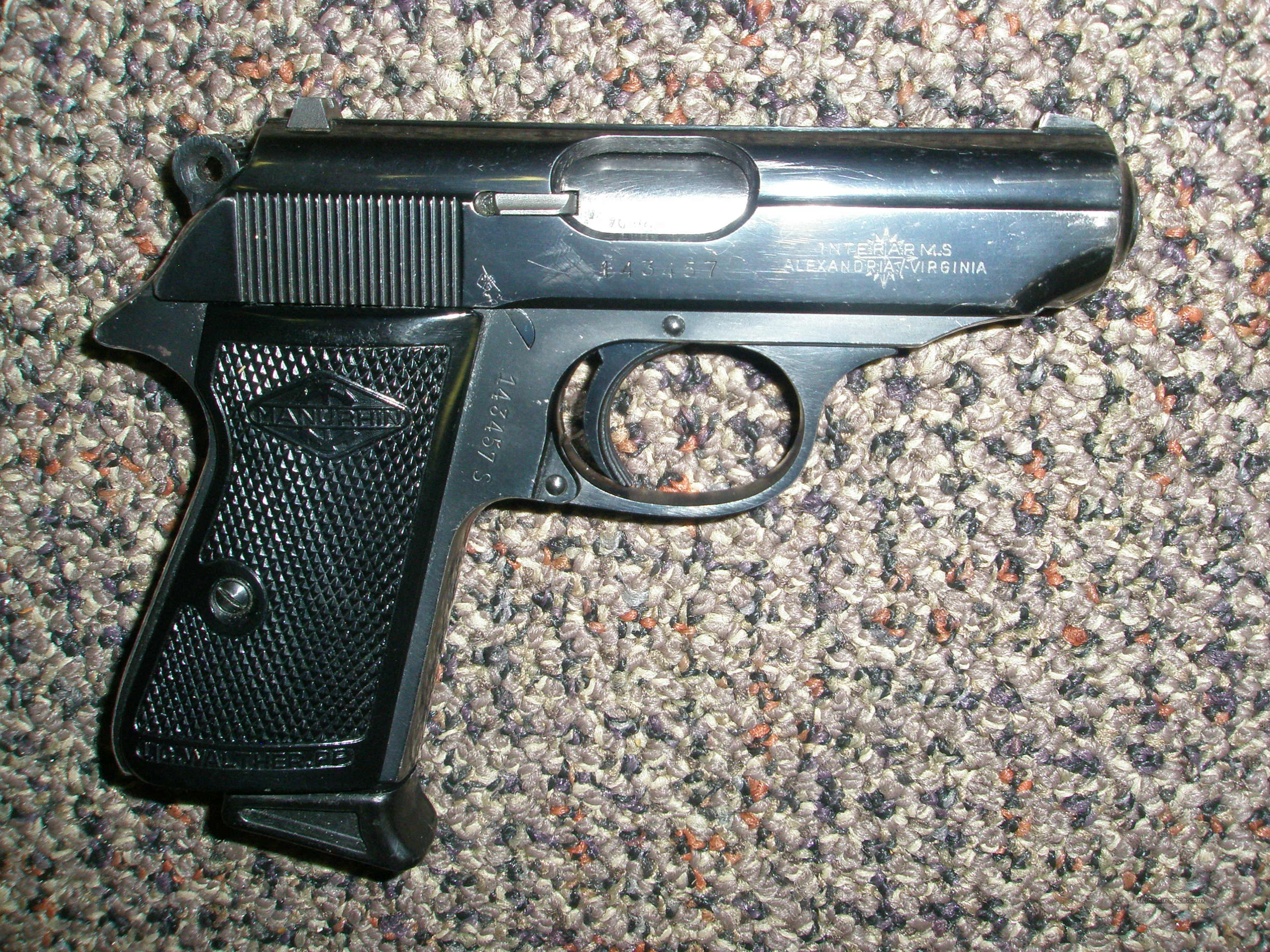 Walther/Interarms .380 blue German gun  Guns > Pistols > Walther Pistols > Post WWII > PPK Series
