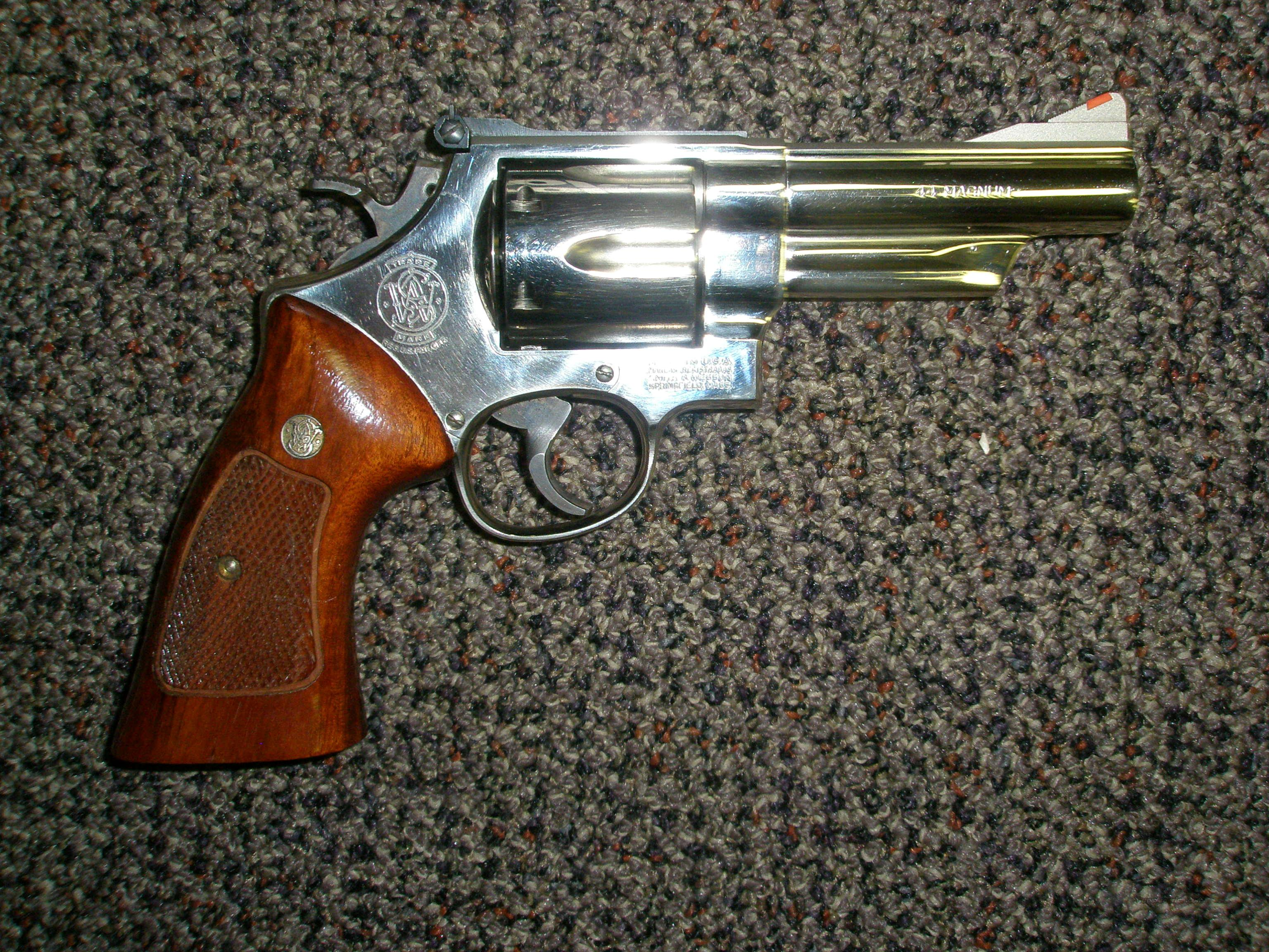 "Smith Wesson 29-3 Nickel 4"" Action job  Guns > Pistols > Smith & Wesson Revolvers > Full Frame Revolver"