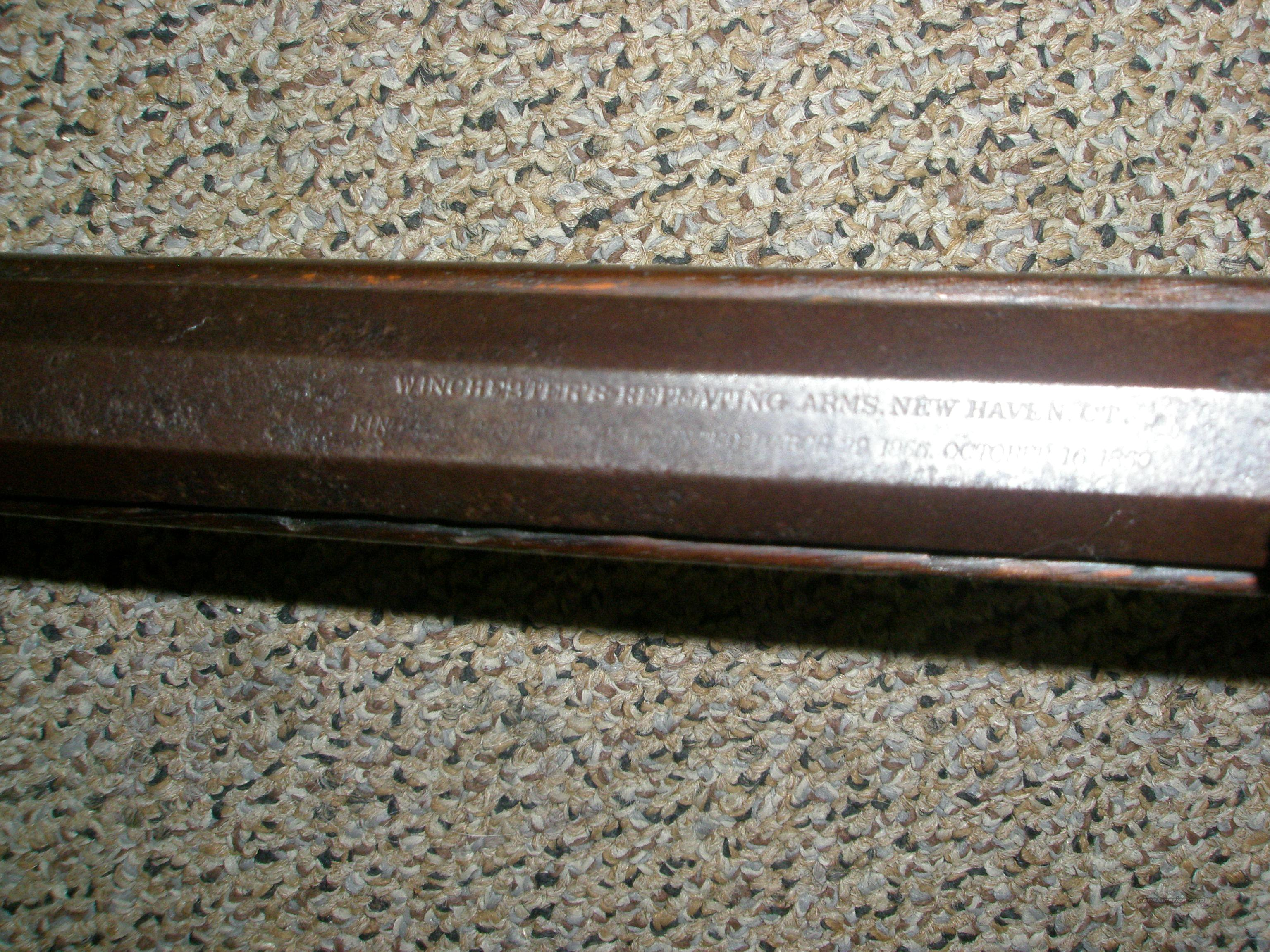 Winchester 1866 Yellow Boy .44 rimfire 3rd model  Guns > Rifles > Winchester Rifles - Pre-1899 Lever