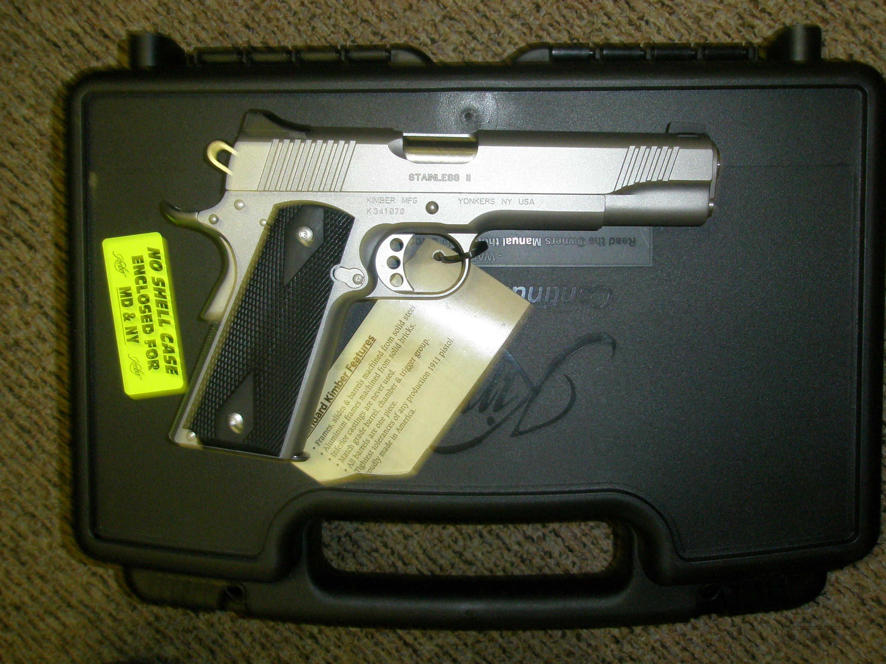 Kimber Stainless 2 .45 ACP with 1 mag NIB  Guns > Pistols > Kimber of America Pistols