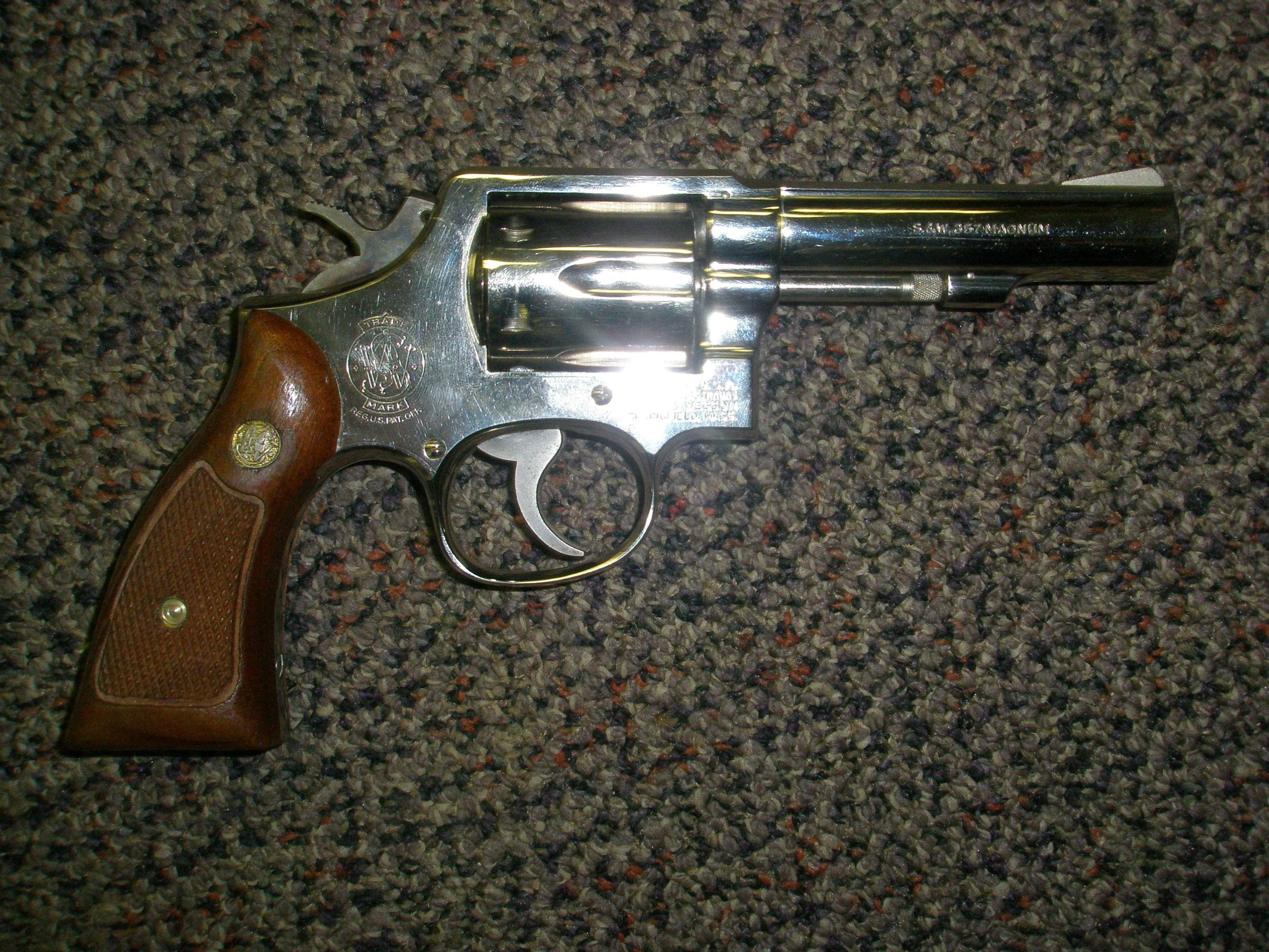 "Smith Wesson 13-2 Nickel .357 4""  Guns > Pistols > Smith & Wesson Revolvers > Full Frame Revolver"
