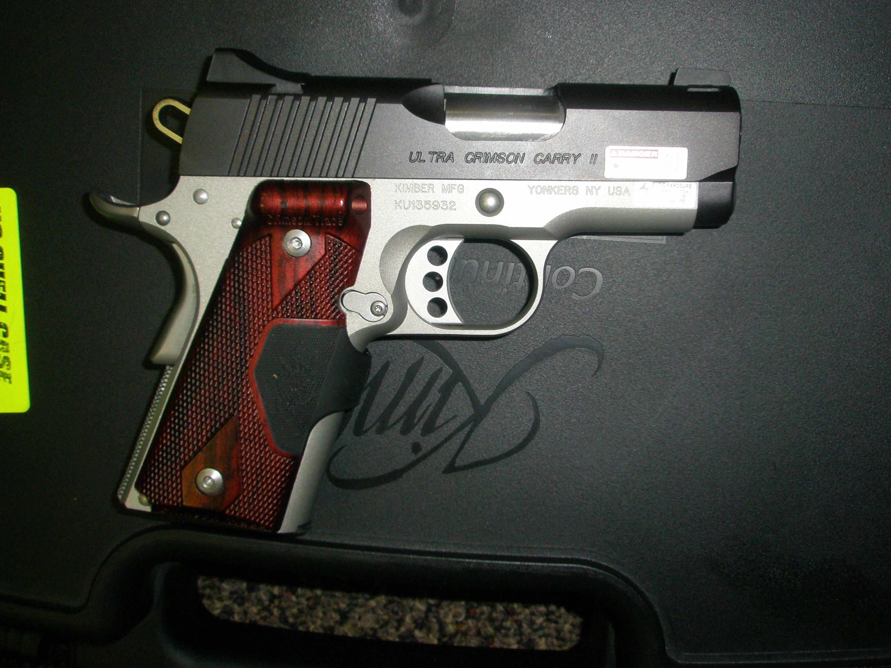 Kimber Ulta Crimson Carry 2 .45 ACP w box  Guns > Pistols > Kimber of America Pistols