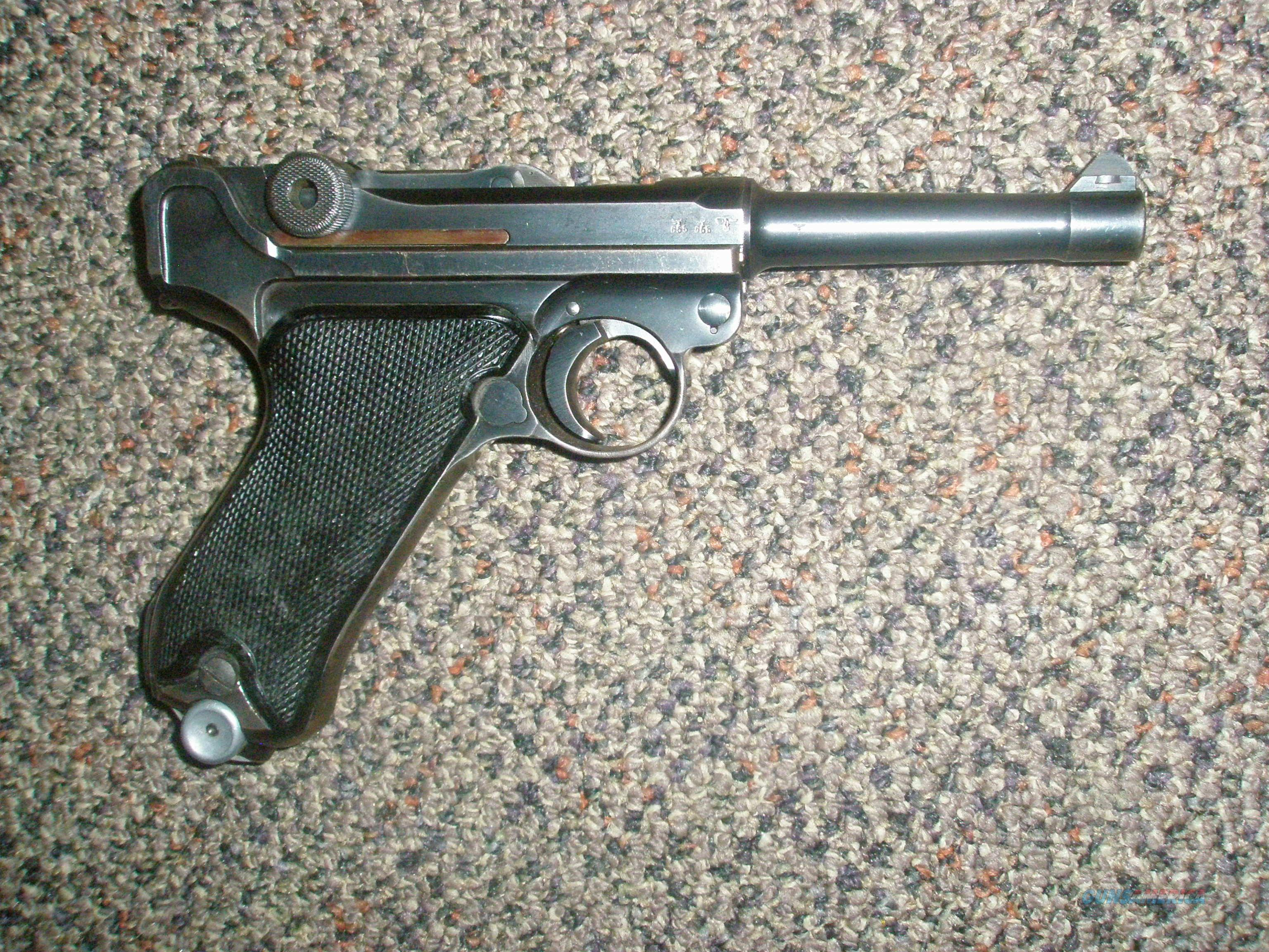 1941 BYF (Mauser) 9MM Luger with Black Widow grips and matching mag  Guns > Pistols > Luger Pistols