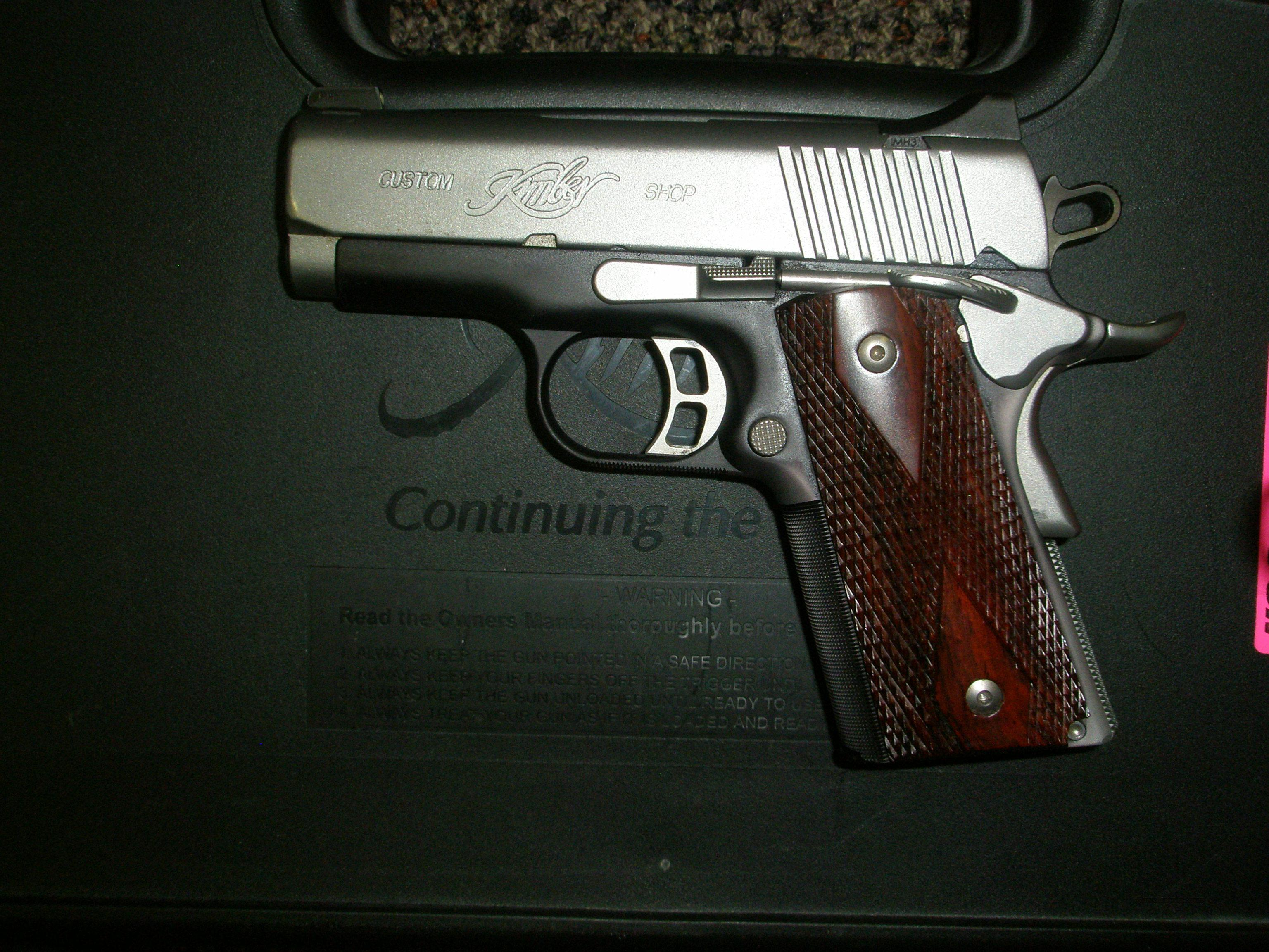 Kimber SS Ultra CDP .45 ACP with box.  Guns > Pistols > Kimber of America Pistols