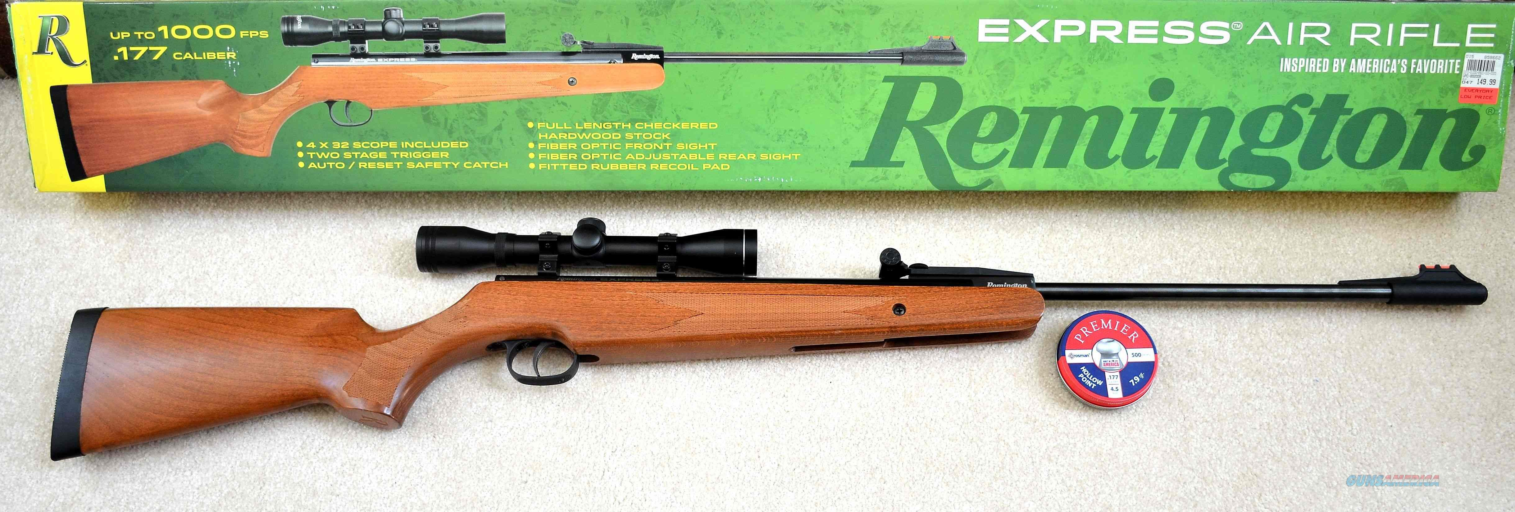 Remington Express 0.177 Air Rifle w Wood Stock  Non-Guns > Air Rifles - Pistols > Adult High Velocity