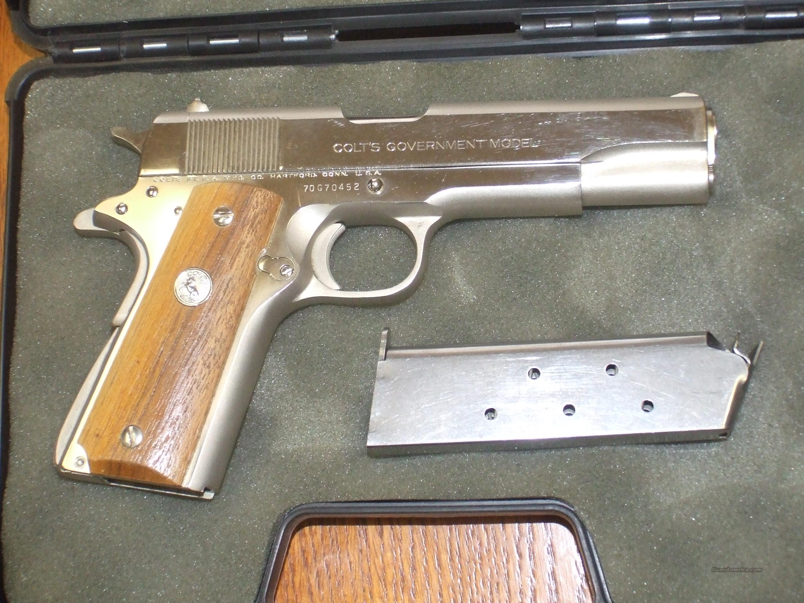 Colt Series 70 Nickel Plated 45acp  Guns > Pistols > Colt Automatic Pistols (1911 & Var)