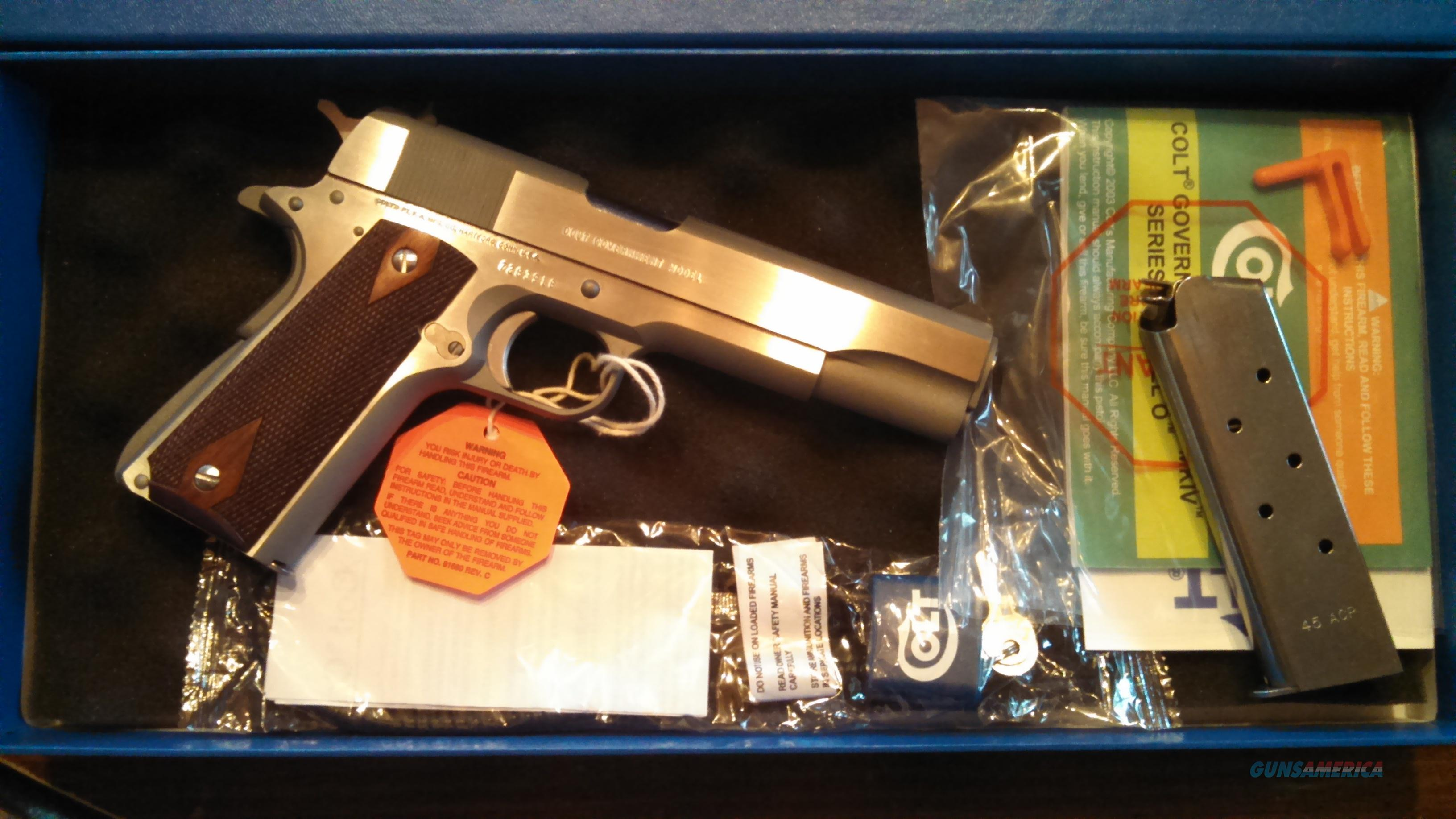 COLT SERIES 70 GOVERNMENT MODEL 45ACP SS Sleeved Box  Guns > Pistols > Colt Automatic Pistols (1911 & Var)