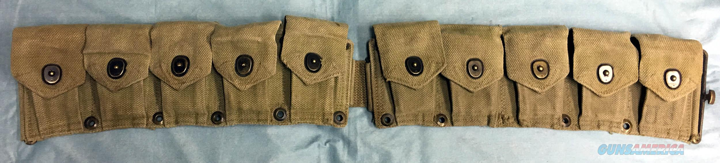 VERY NICE WWII M1 CARTRIDGE/CLIP WEB BELT - 1942  Non-Guns > Military > Web Gear