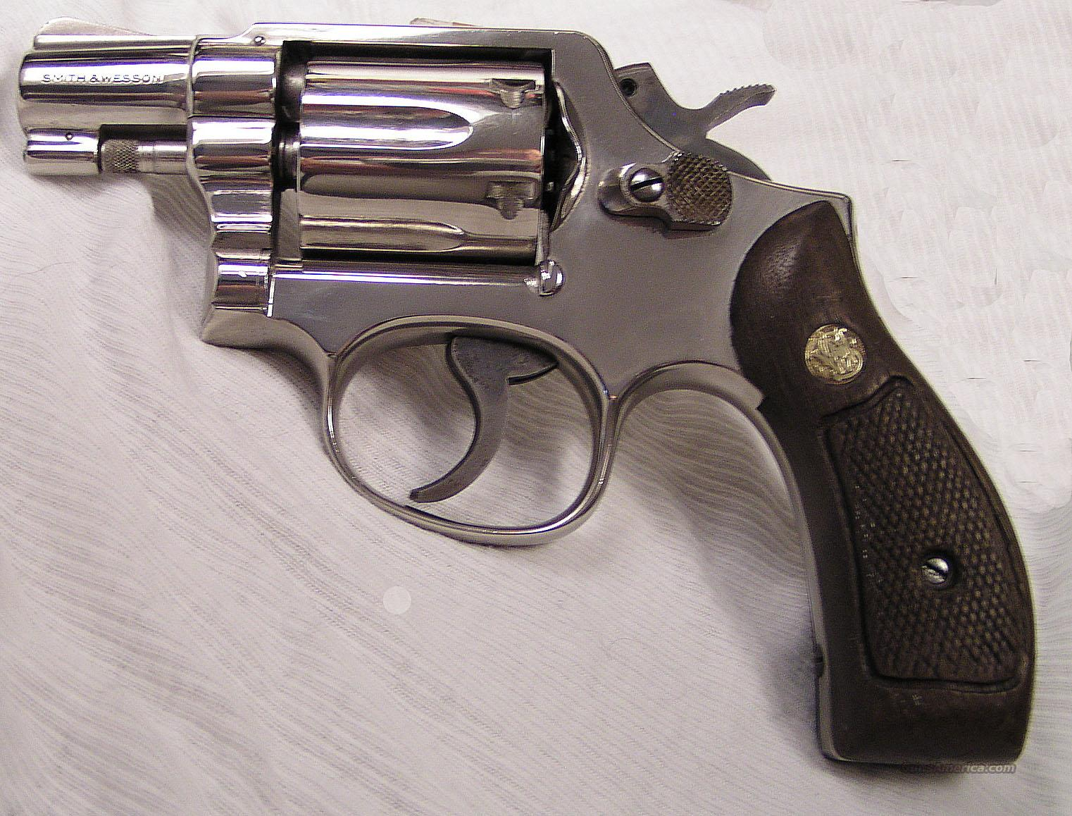 S&W MODEL 10-5 NICKEL SNUB-NOSED  REVOLVER  Guns > Pistols > Smith & Wesson Revolvers > Full Frame Revolver