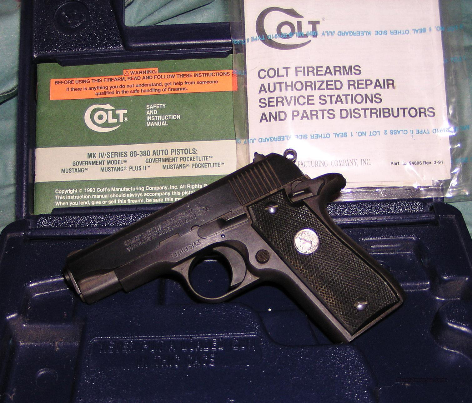 EXCELLENT COLT GOVERNMENT .380  Guns > Pistols > Colt Automatic Pistols (.25, .32, & .380 cal)