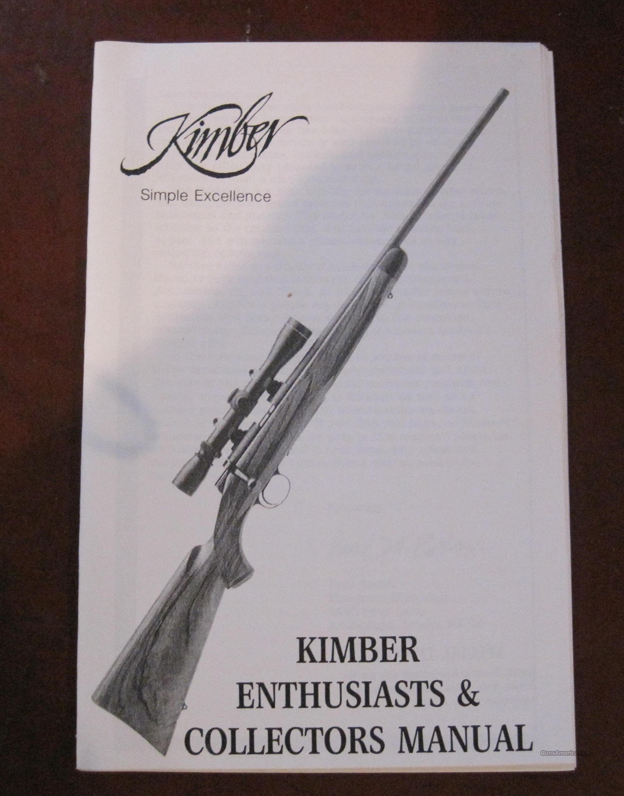 KIMBER COLLECTORS MANUAL  Guns > Rifles > Kimber of Oregon Rifles