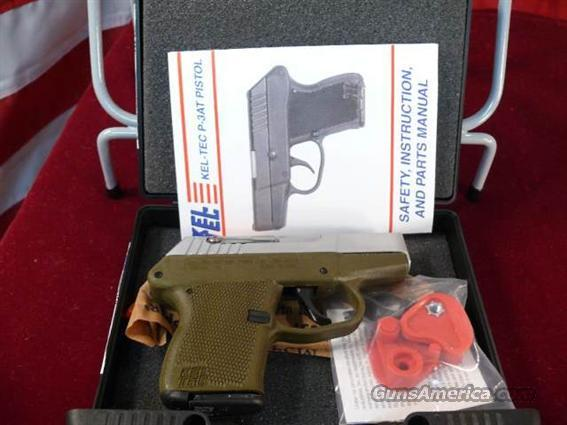 Kel-Tec KelTec P-3AT 380ACP DAO Hard Chrome/Green    Guns