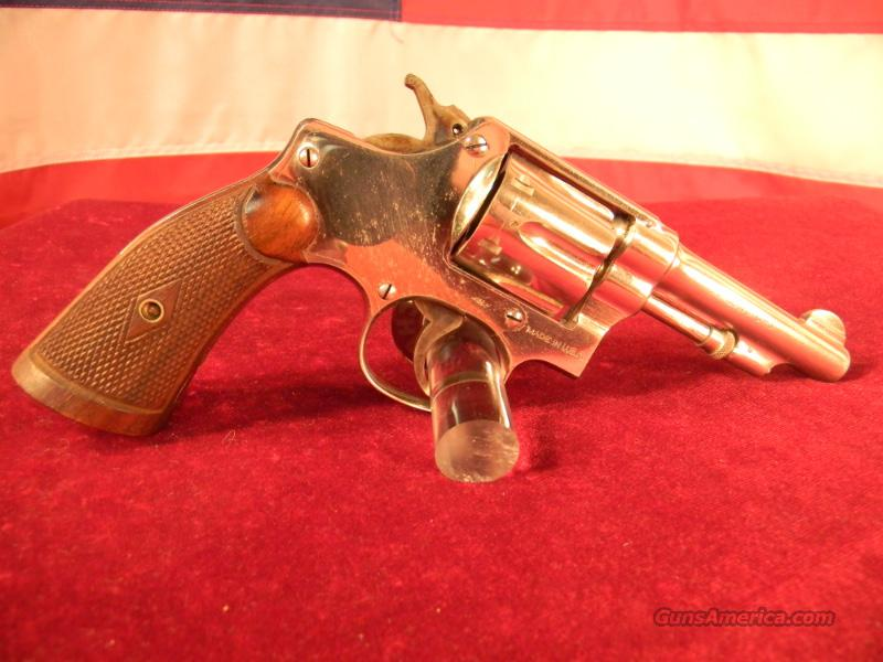 "S&W Hand Ejector 32S&W Long 4 1/4"" Barrel - Nickel  Guns > Pistols > Smith & Wesson Revolvers > Full Frame Revolver"