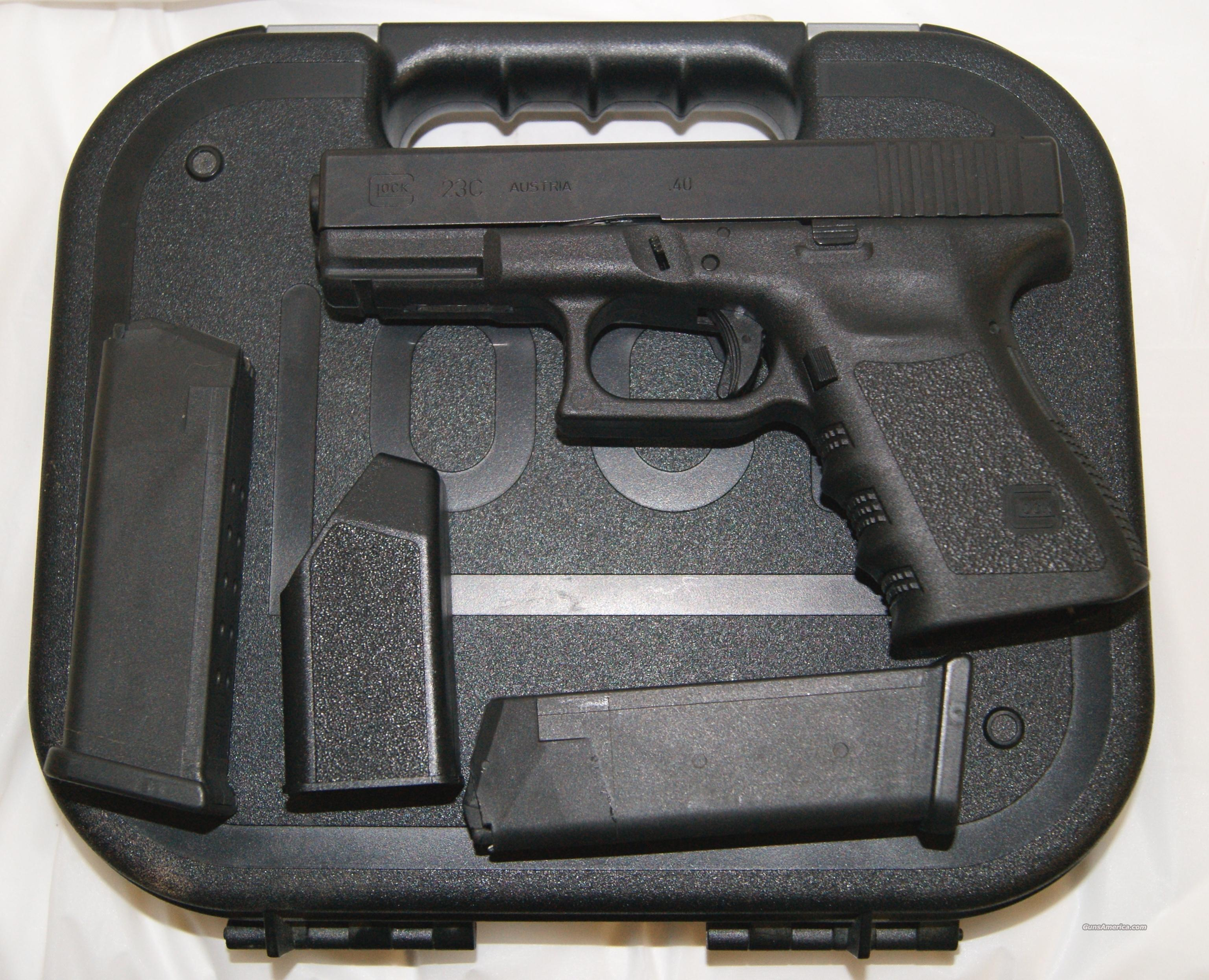 Glock 23C Compact Ported 40 S&W Like New   Guns > Pistols > Glock Pistols > 23