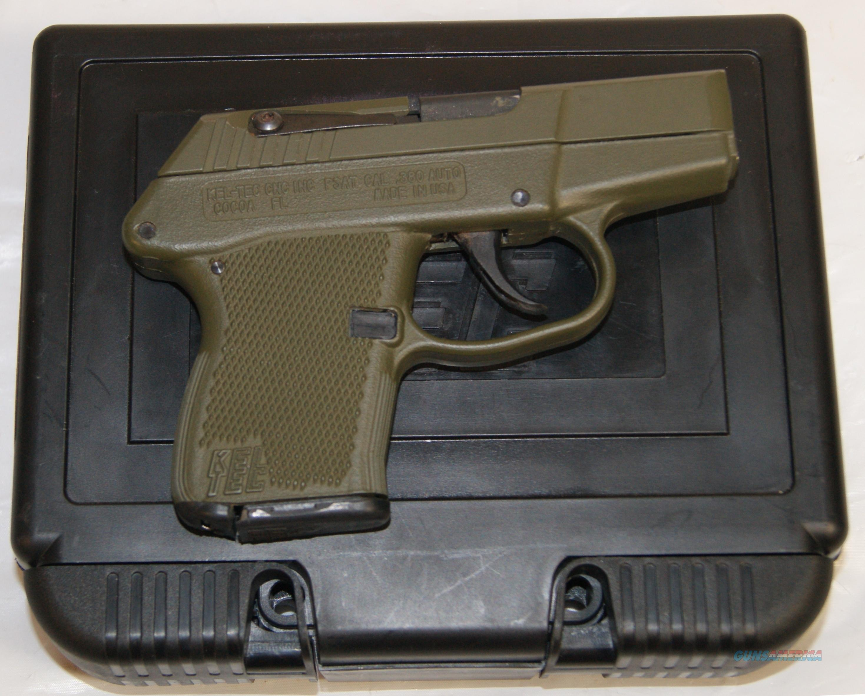 Kel-Tec .380 model P3AT 7 Shot Green Polymer  Guns > Pistols > Kel-Tec Pistols > Pocket Pistol Type