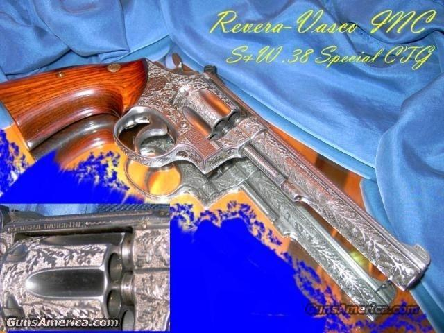 Revera-Vasco Engraved S&W .38 Special  Guns > Pistols > Smith & Wesson Revolvers > Full Frame Revolver