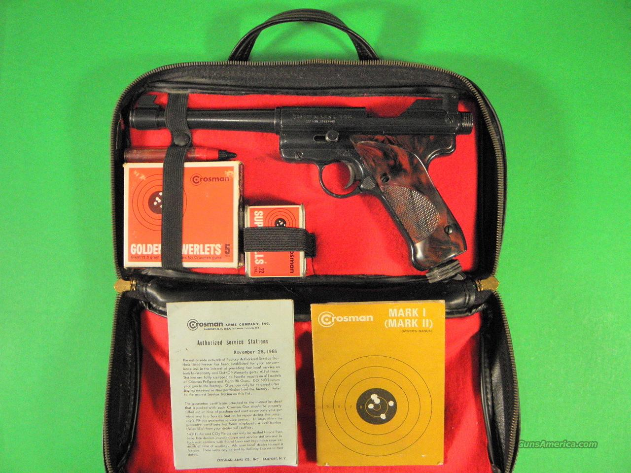 1960's Vintage Crosman Mk 1 Pellet Air-Pistol & Case  Non-Guns > Air Rifles - Pistols > CO2 Pistol