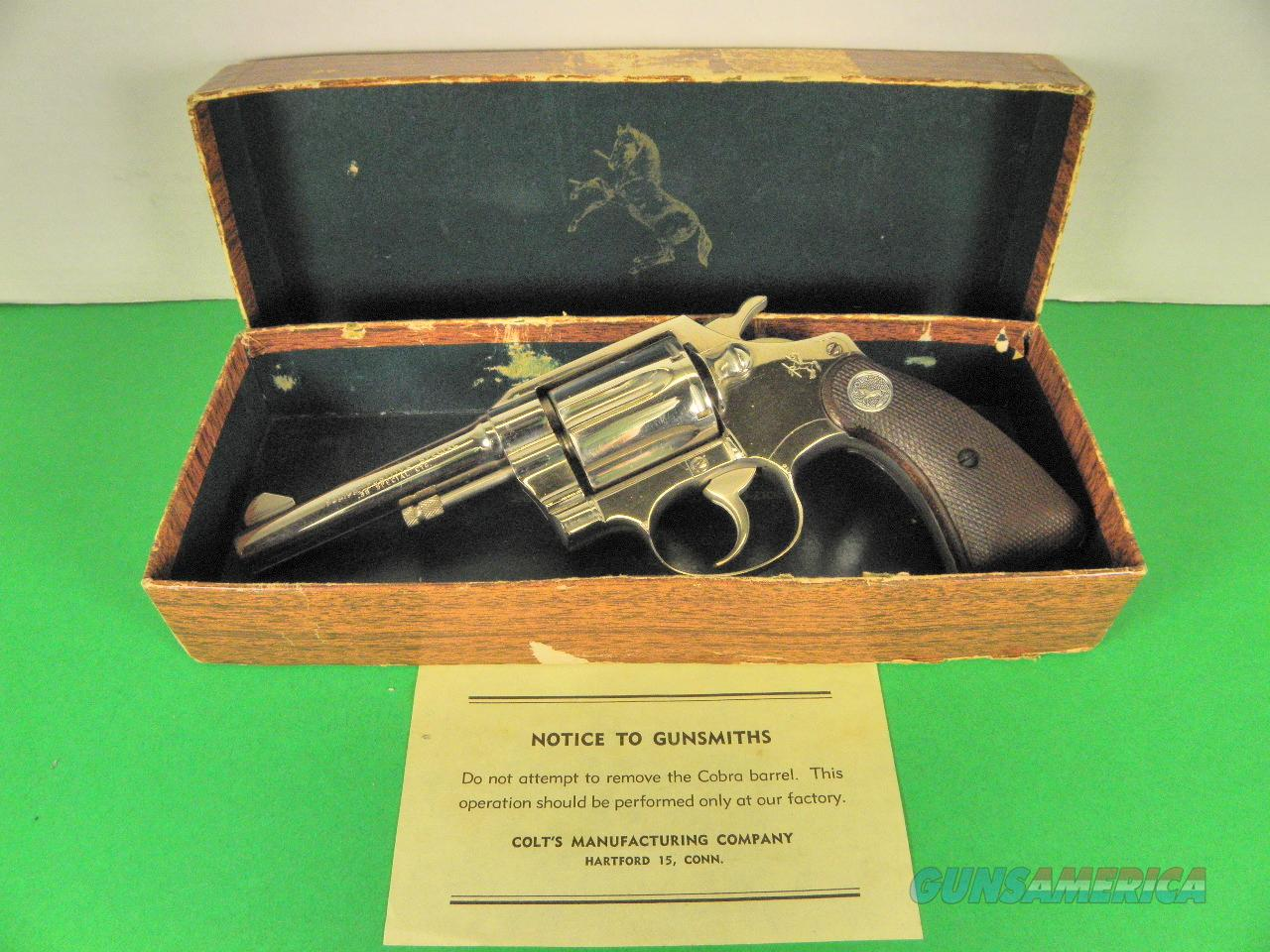 1960 Vintage Colt Nickel Police-Positive Revolver .38  Spl. N/Mint in Box  Guns > Pistols > Colt Double Action Revolvers- Modern