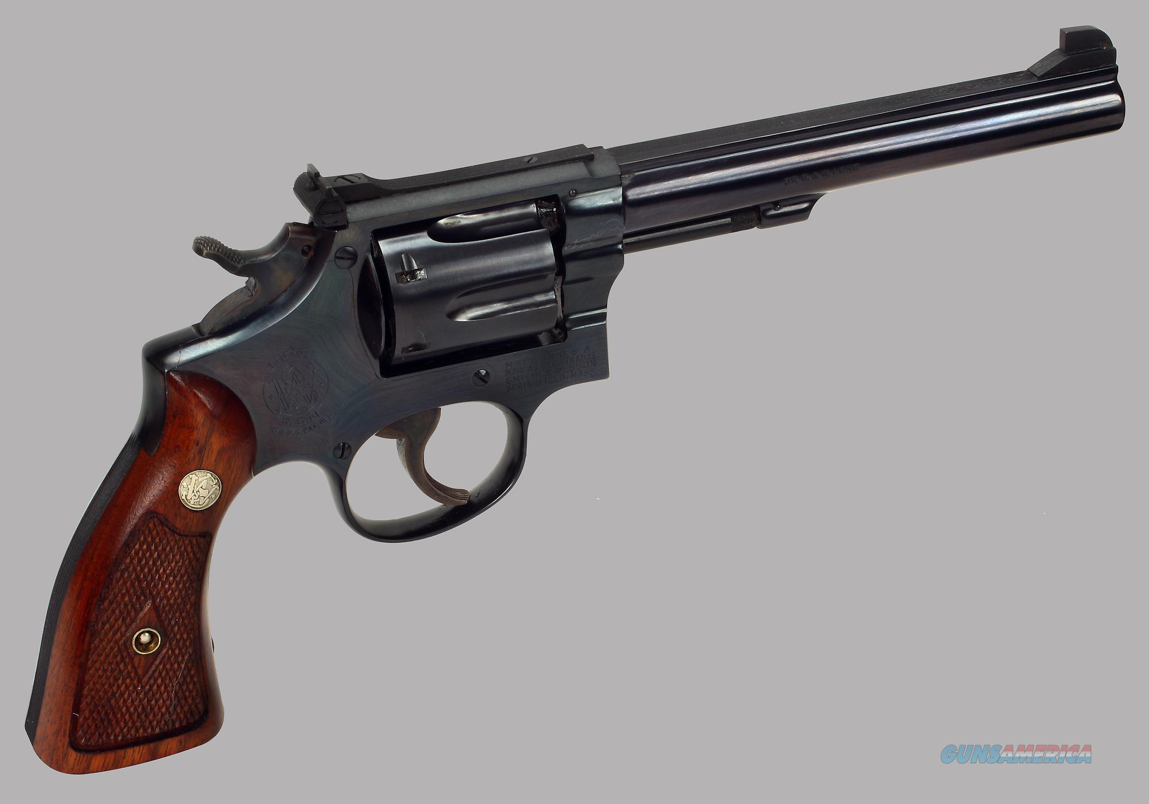 Smith & Wesson Model K32 Masterpiece 32 S&W Long cal Revolver  Guns > Pistols > Smith & Wesson Revolvers > Med. Frame ( K/L )