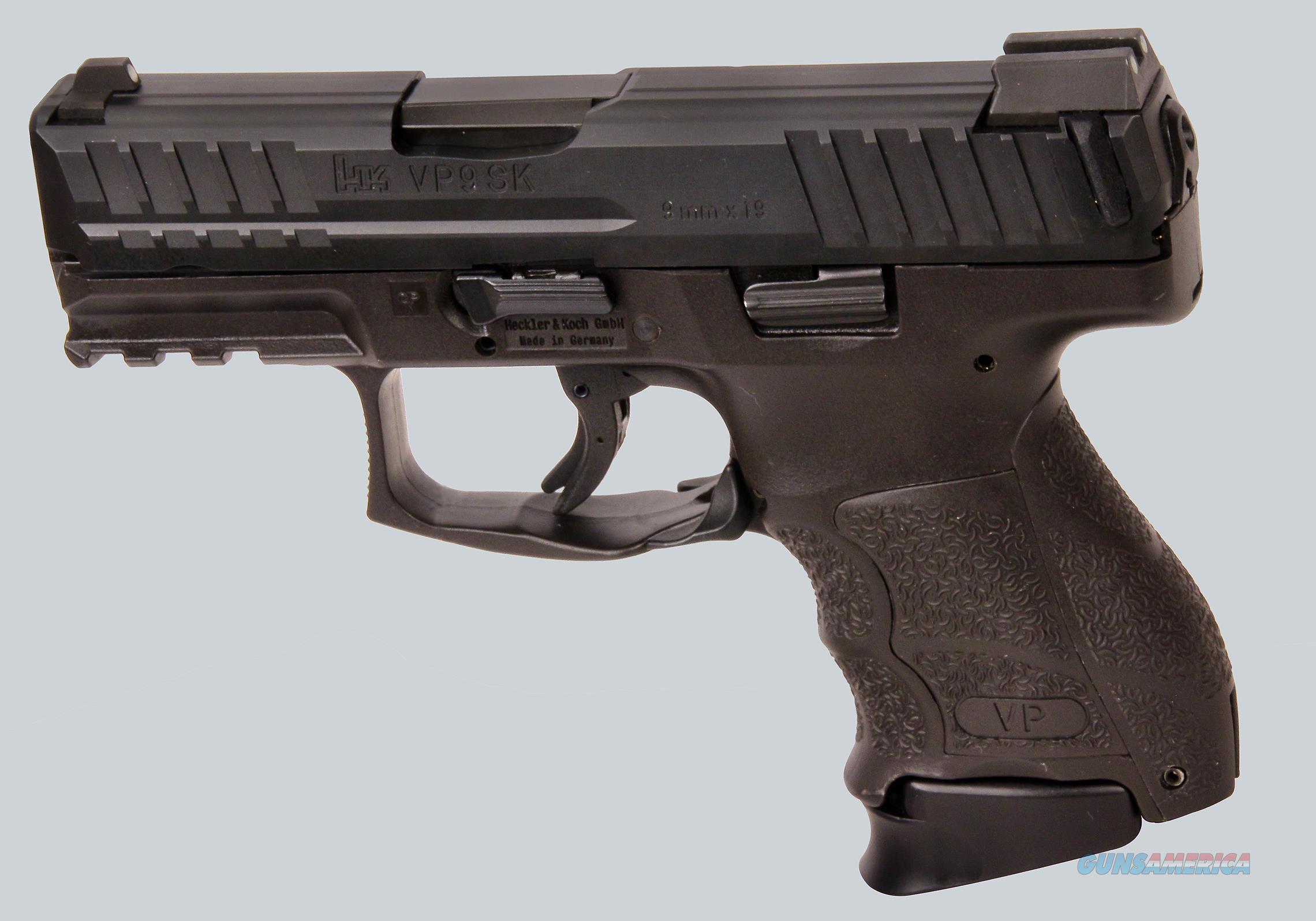 H&K 9mm Model VP9SK Pistol  Guns > Pistols > Heckler & Koch Pistols > Polymer Frame
